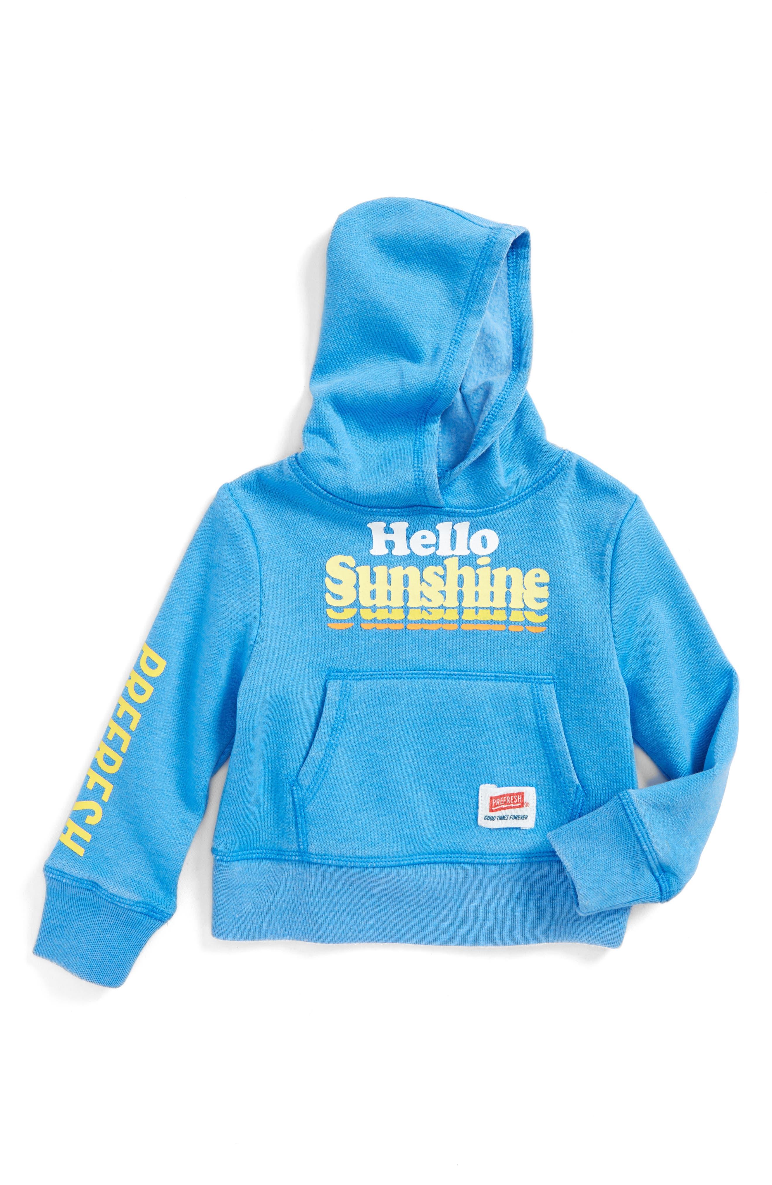 Hello Sunshine Hoodie,                         Main,                         color, Vintage Blue