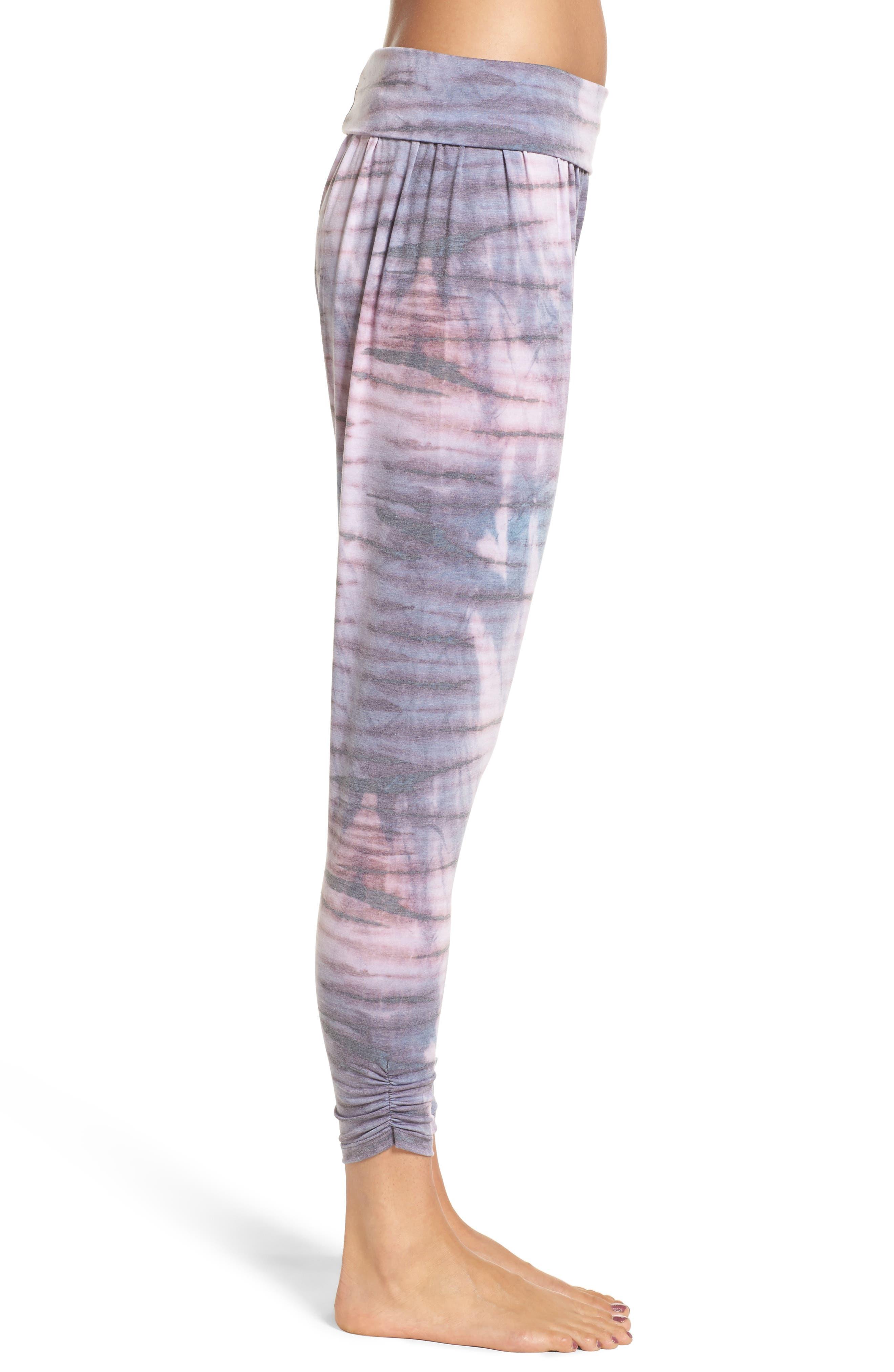 Harem Pants,                             Alternate thumbnail 3, color,                             Blush Tie Dye
