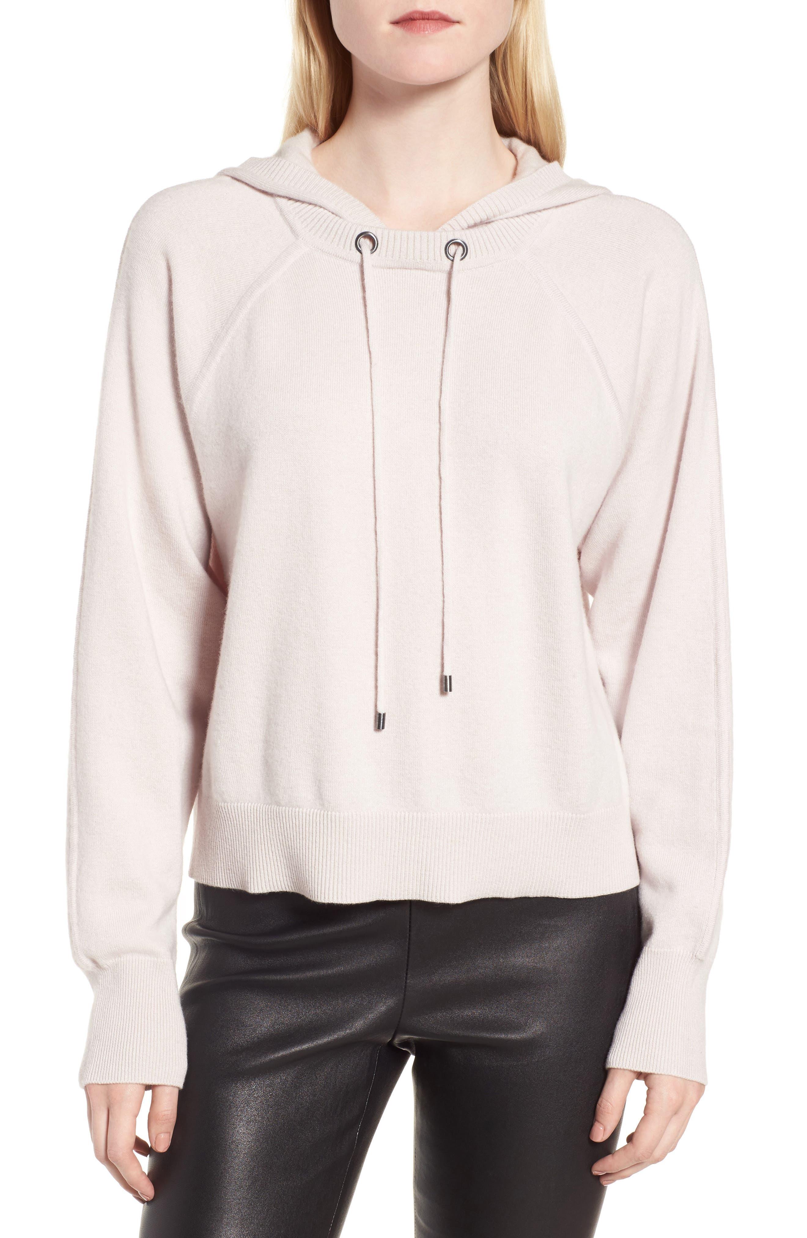 Main Image - Nordstrom Signature Cashmere-Blend Hoodie Sweatshirt