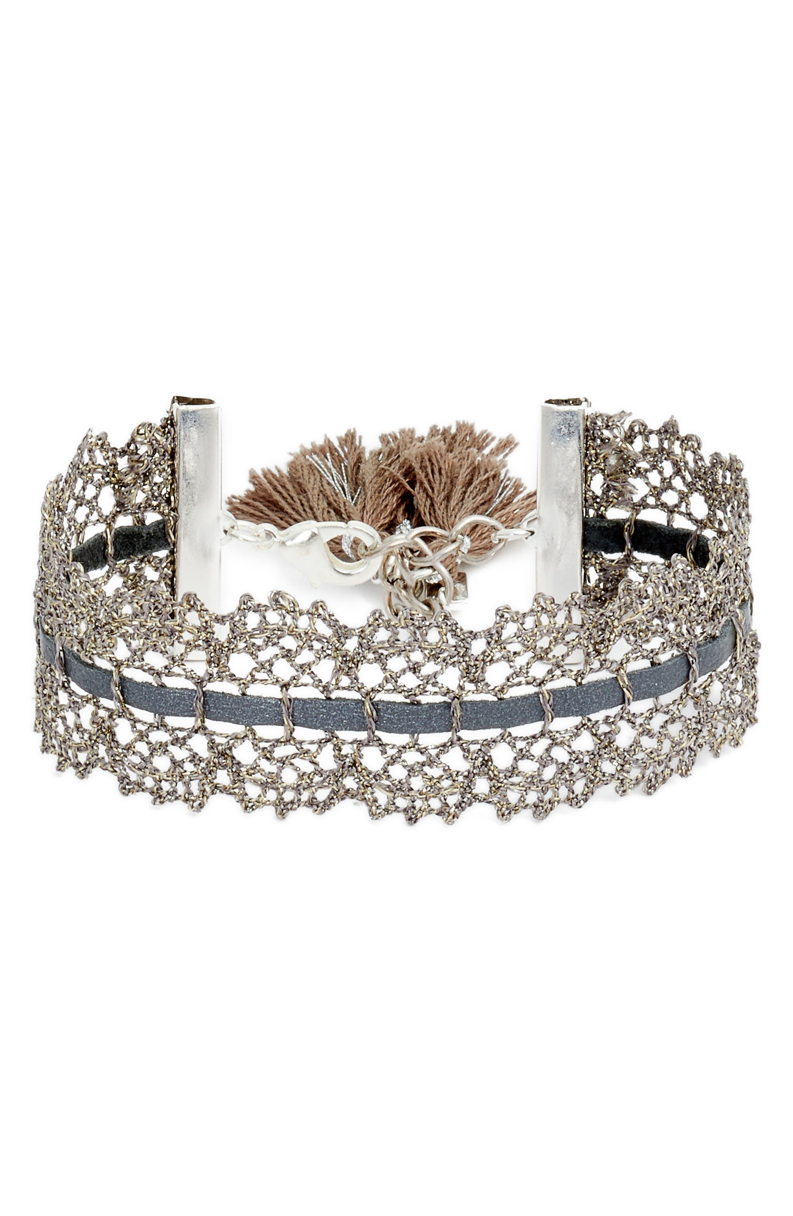 Chan Luu Metallic Lace Bracelet