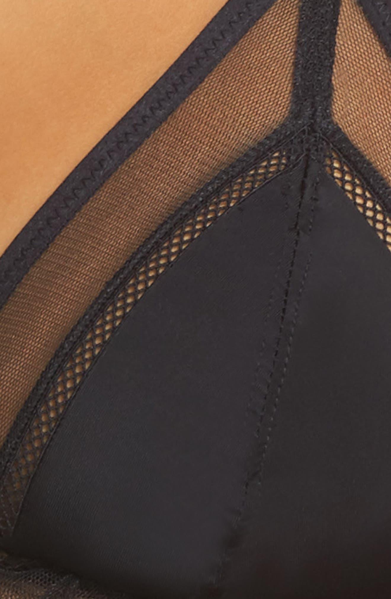Thistle & Spire Lorimer Ruffle Bralette,                             Alternate thumbnail 4, color,                             Black