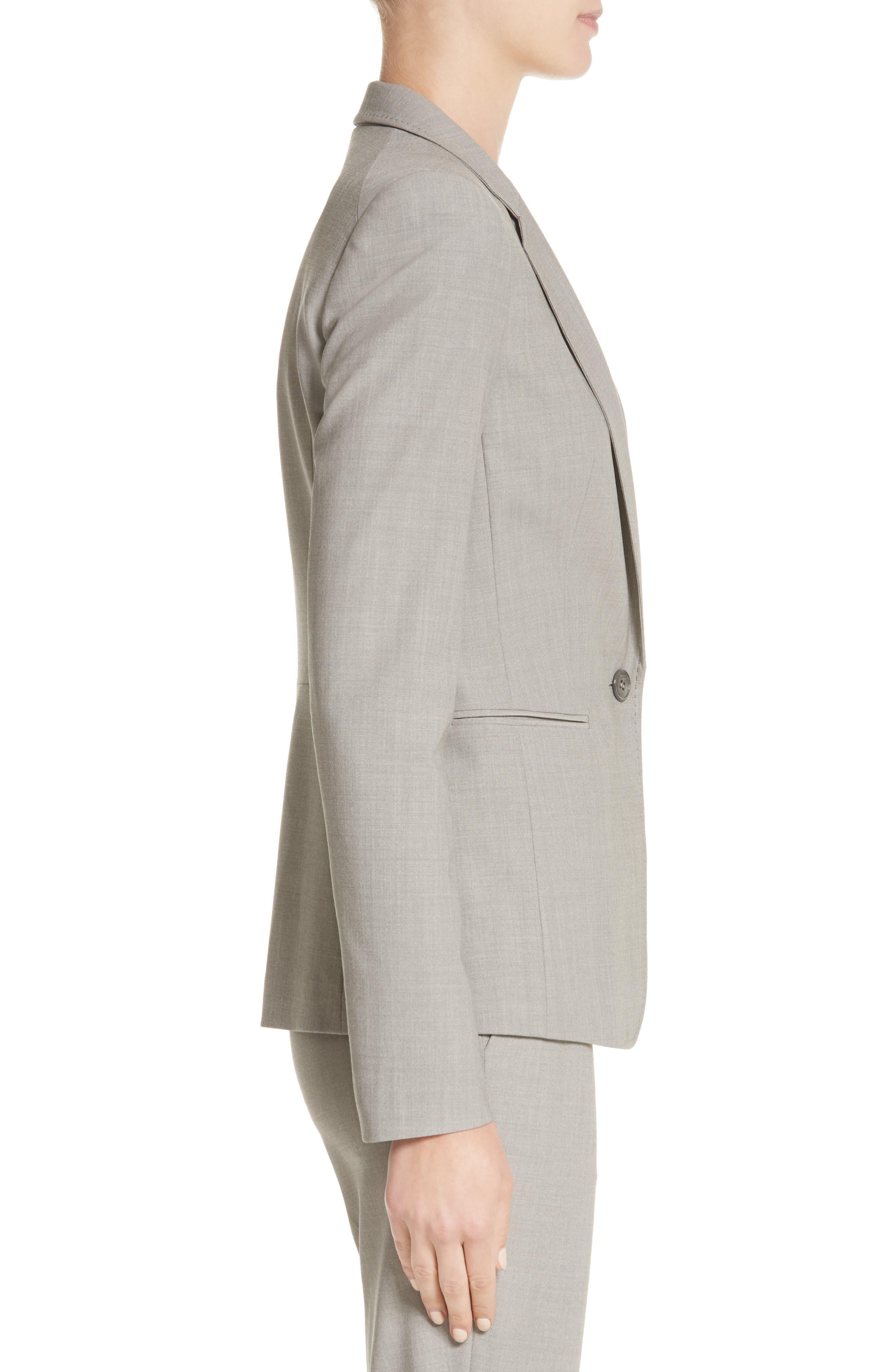 Lyndon Stretch Wool Blazer,                             Alternate thumbnail 3, color,                             Feather Grey Melange