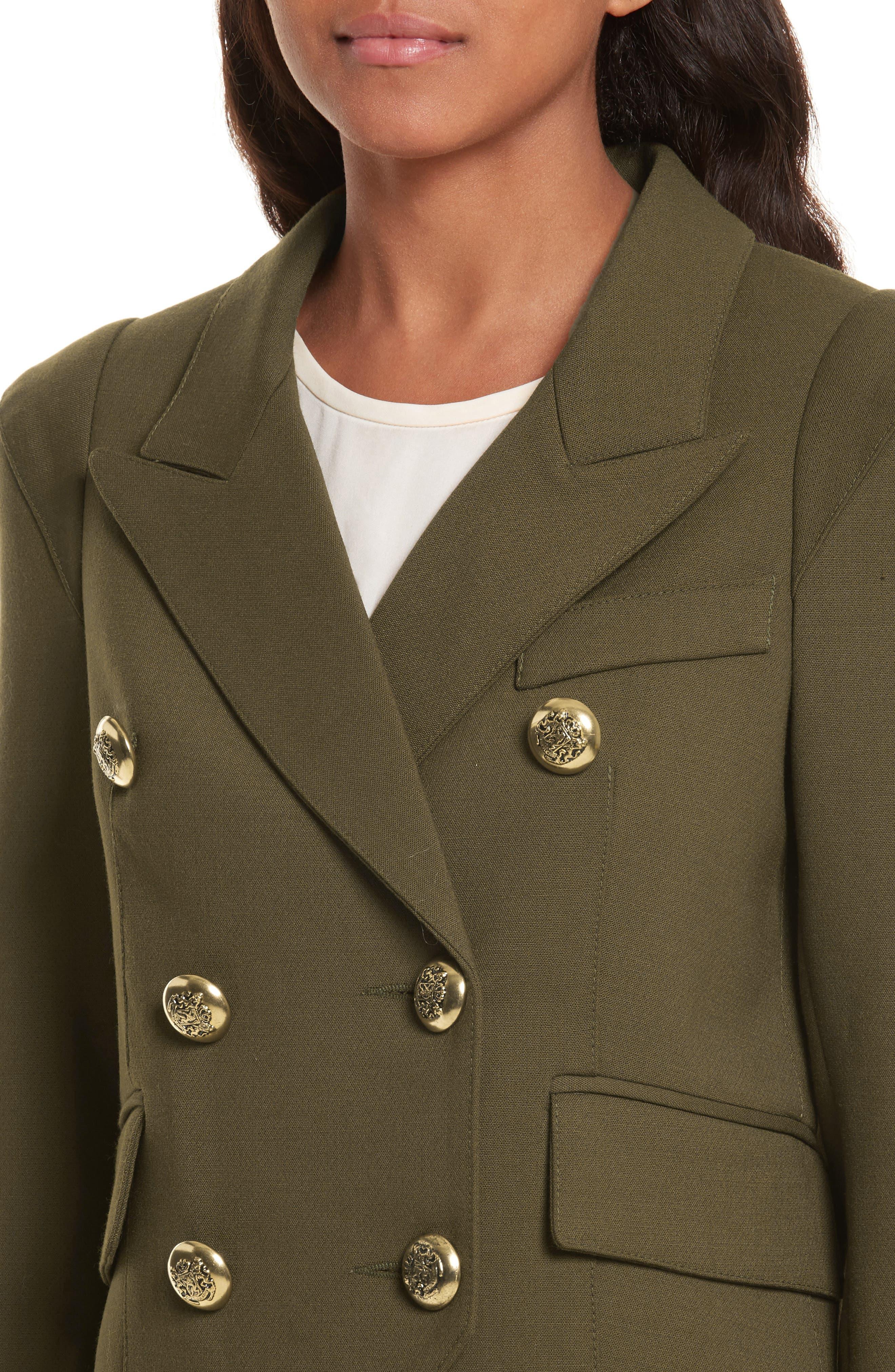 Pagoda Cadet Jacket,                             Alternate thumbnail 4, color,                             Army