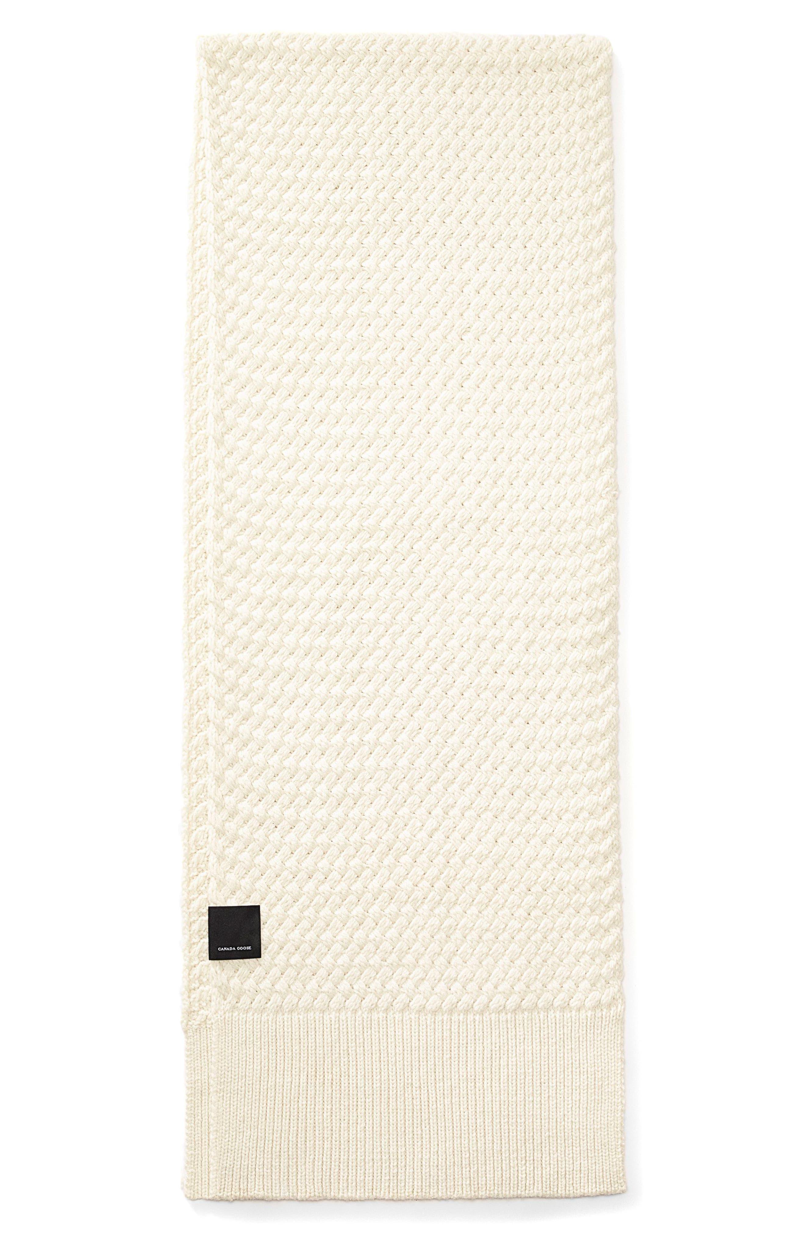 Main Image - Canada Goose Basket Weave Merino Wool Scarf