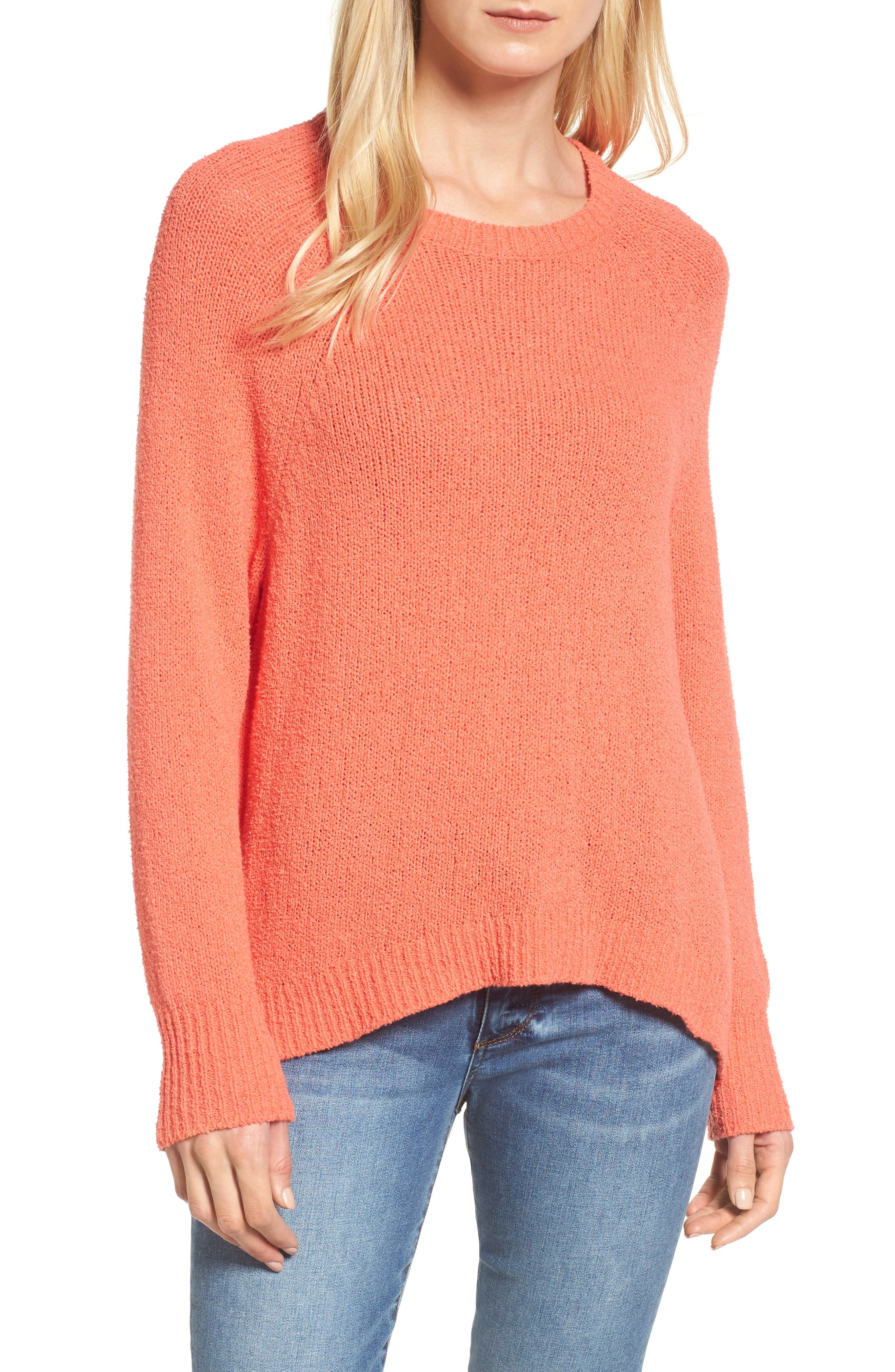 Women's Pink Cotton Blend Sweaters | Nordstrom