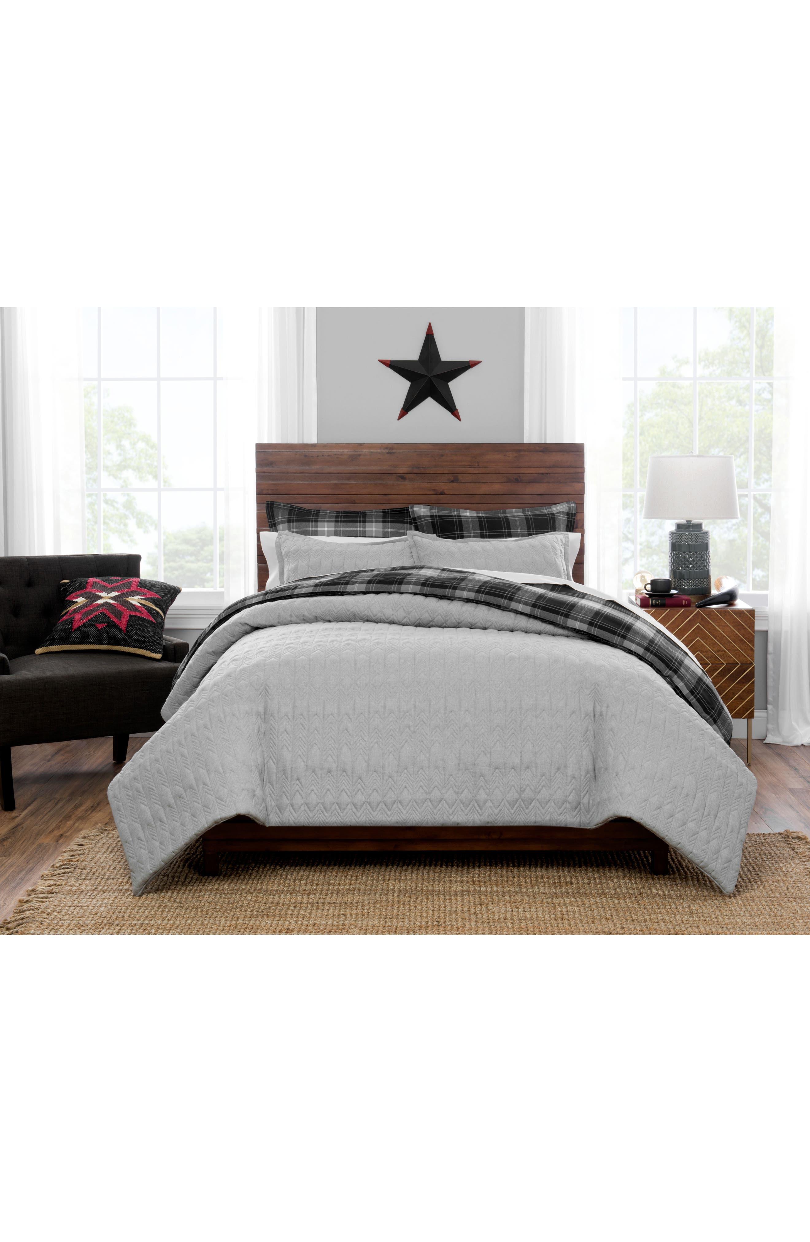 Quilted Comforter & Sham Set,                         Main,                         color, Grey