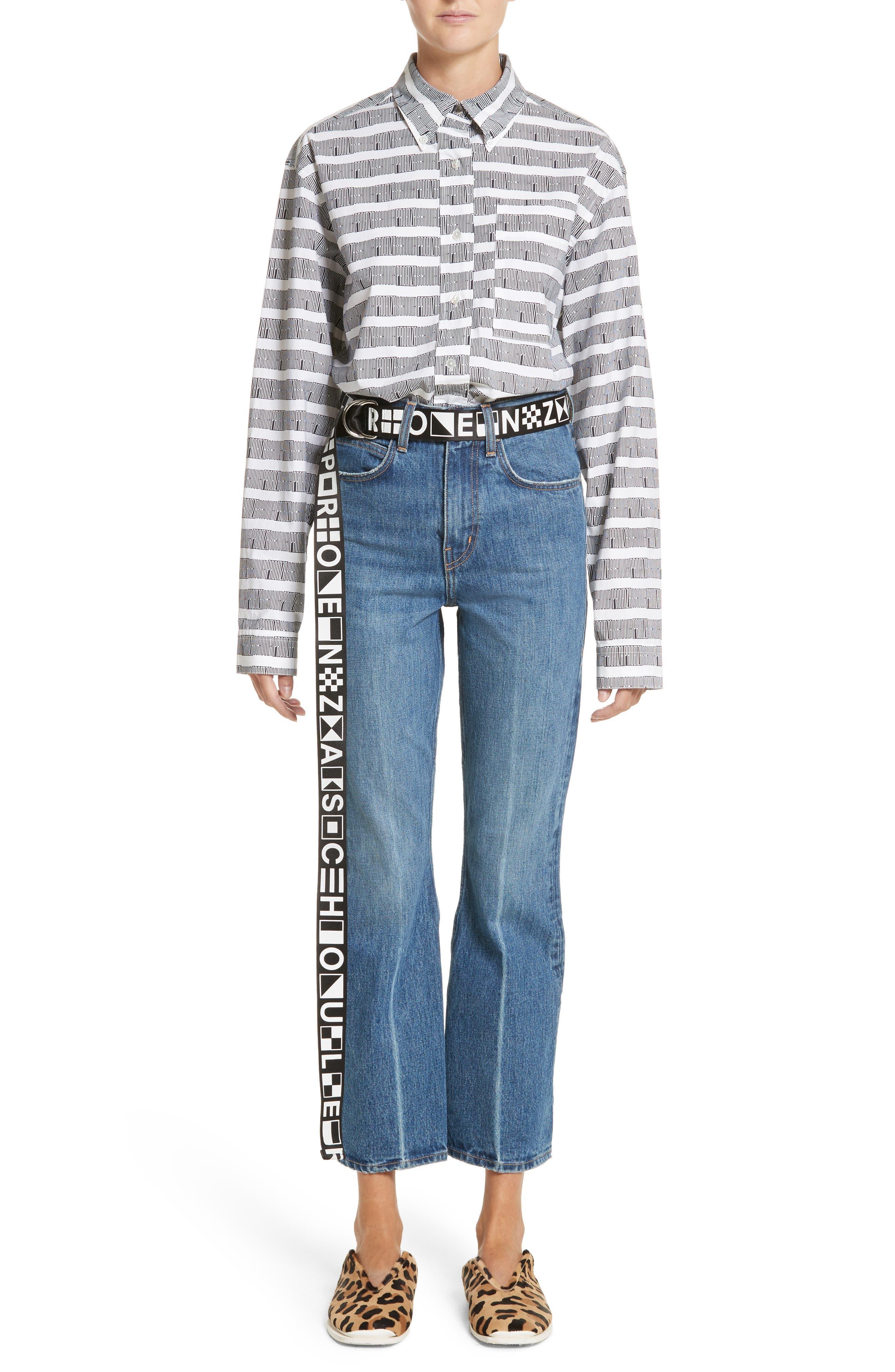 Alternate Image 2  - Proenza Schouler PSWL Graphic Stripe Cotton Top