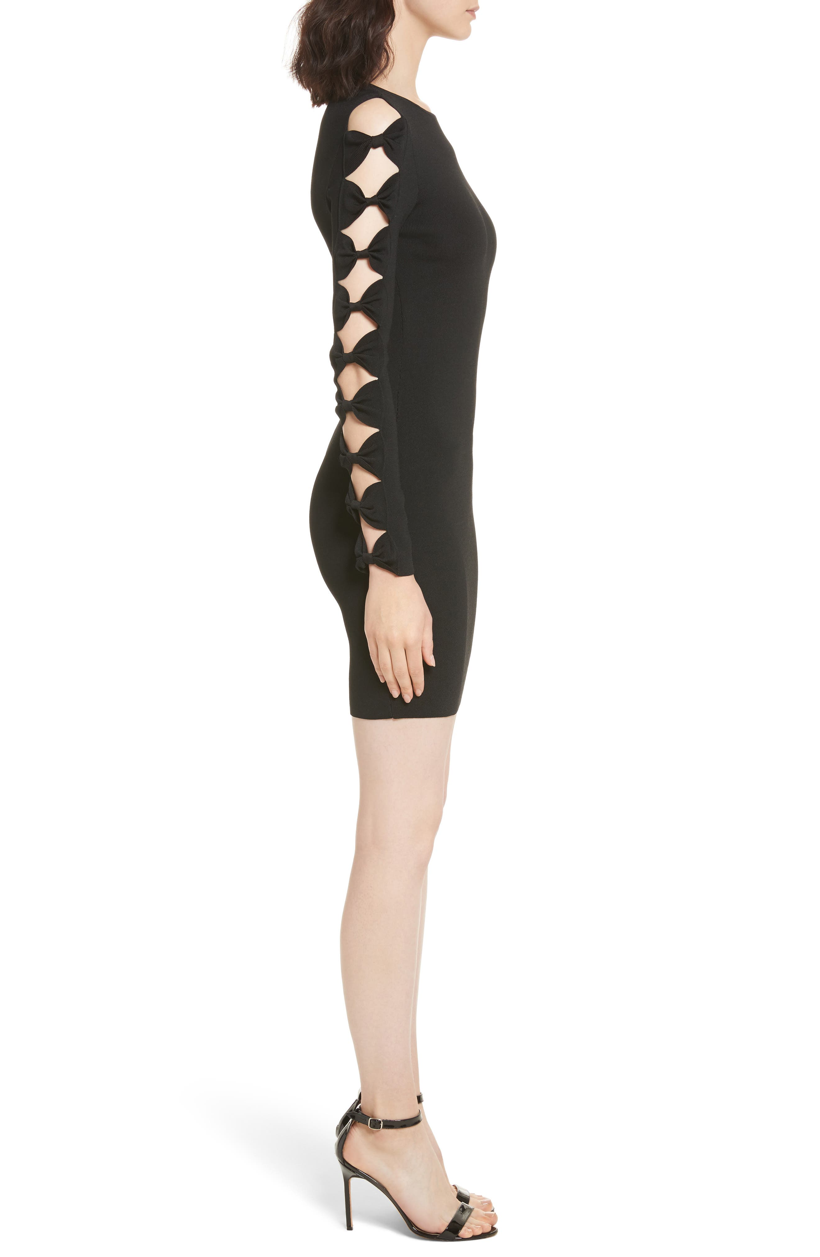 Alternate Image 3  - Ted Baker London Knotted Sleeve Body-Con Dress