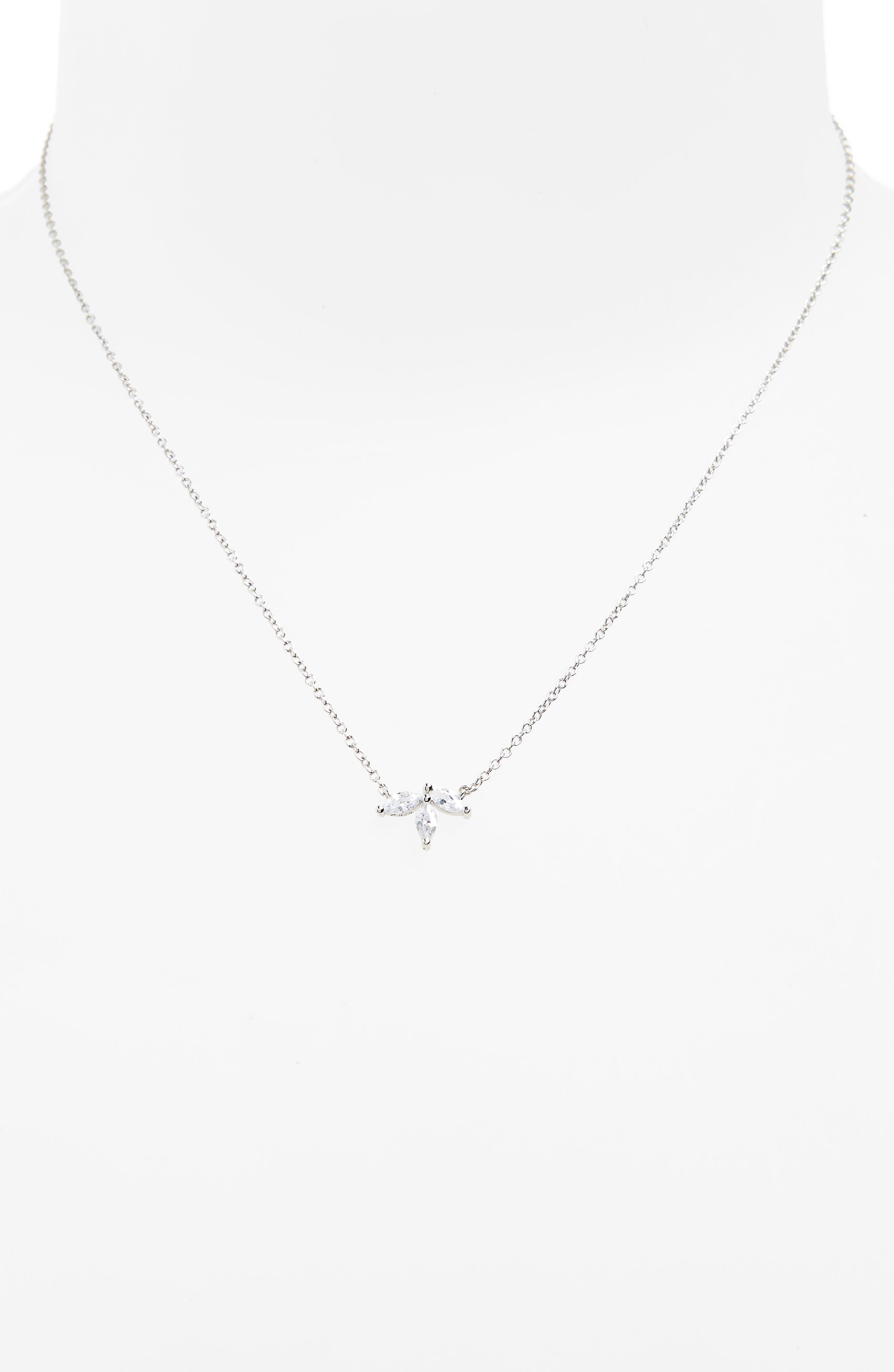Alternate Image 2  - Nordstrom Marquise Cubic Zirconia Pendant Necklace