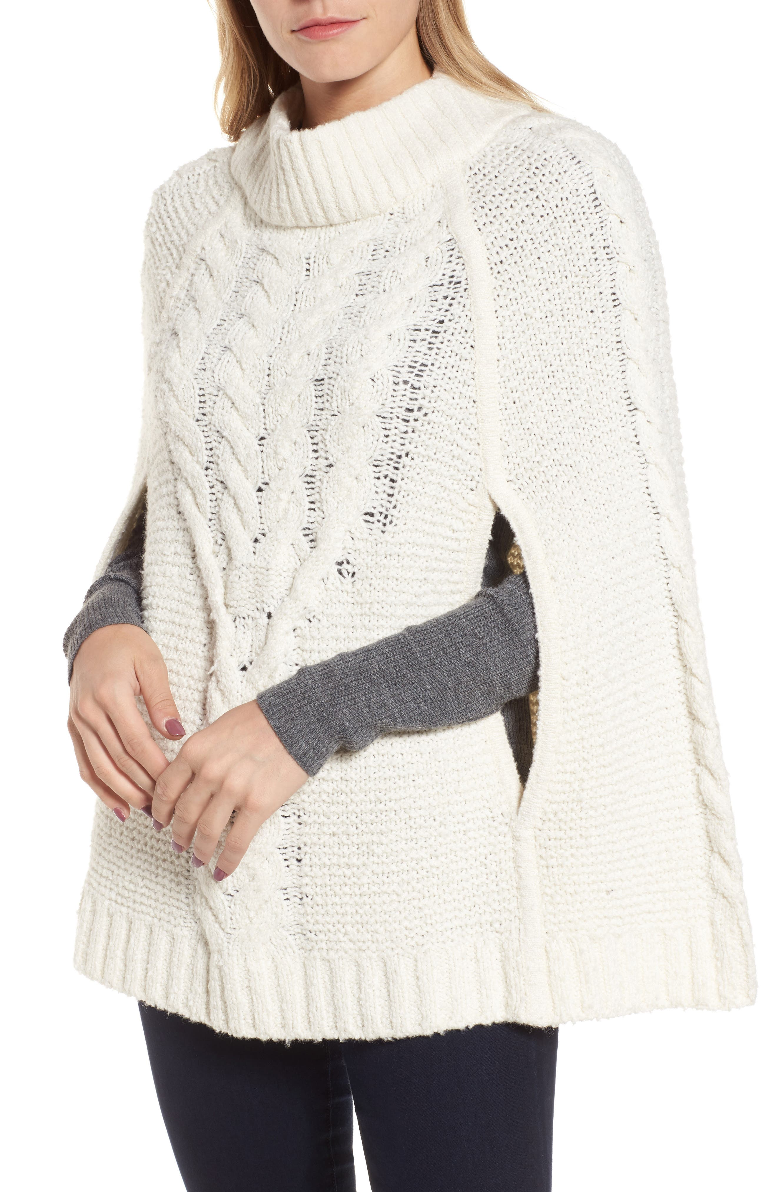 Draper James Cable Sweater Cape