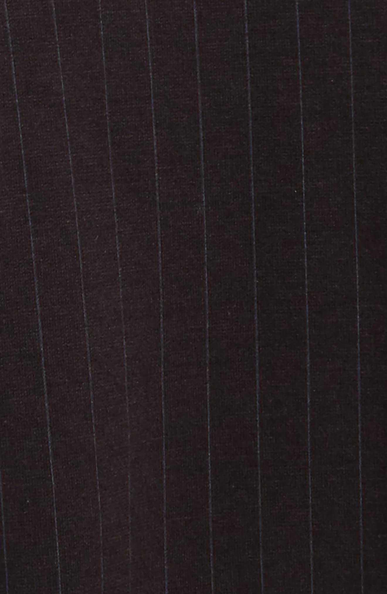 Pinstripe Jogger Pants,                             Alternate thumbnail 2, color,                             Black