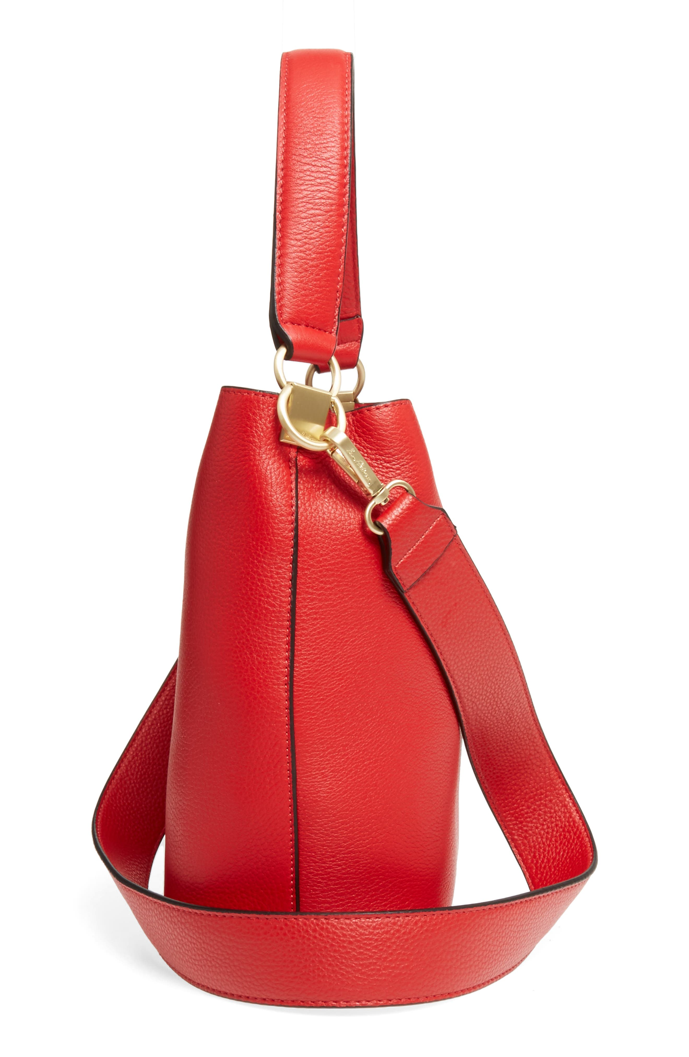 Alternate Image 4  - Sam Edelman Small Nya Faux Leather Bucket Bag