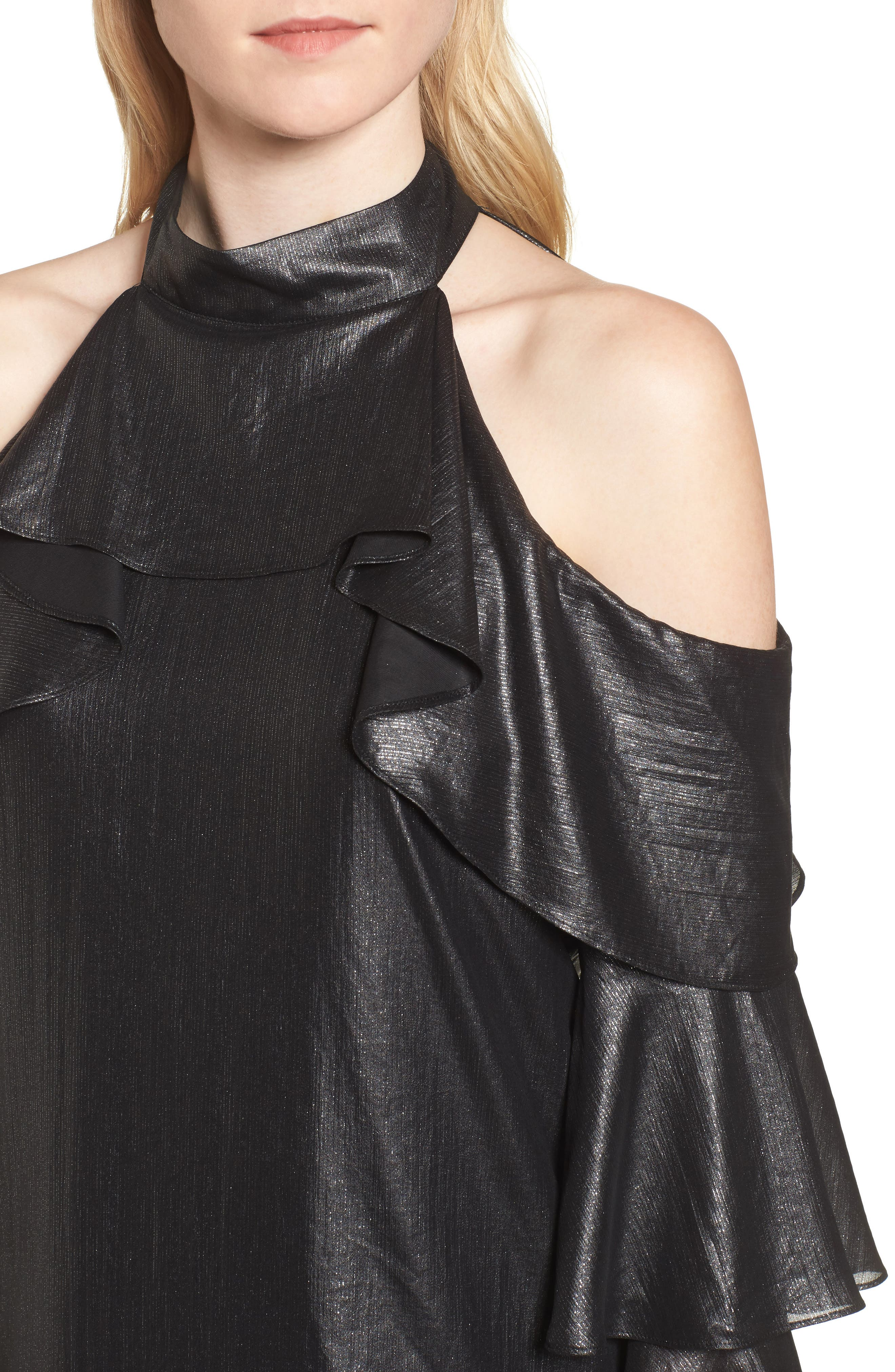 Alternate Image 4  - Parker Kris Cold Shoulder Silk Blouse