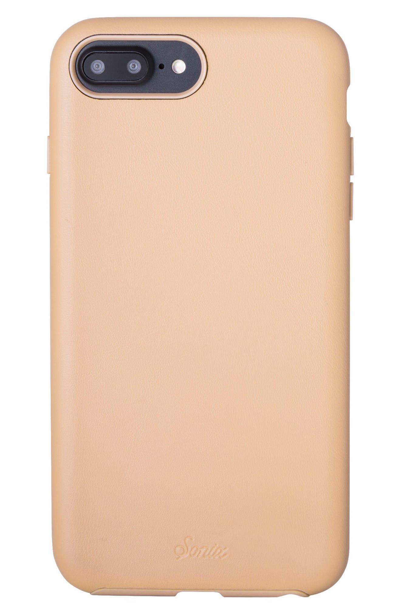Faux Leather iPhone 6/6s/7/8 Plus,                         Main,                         color, Tan