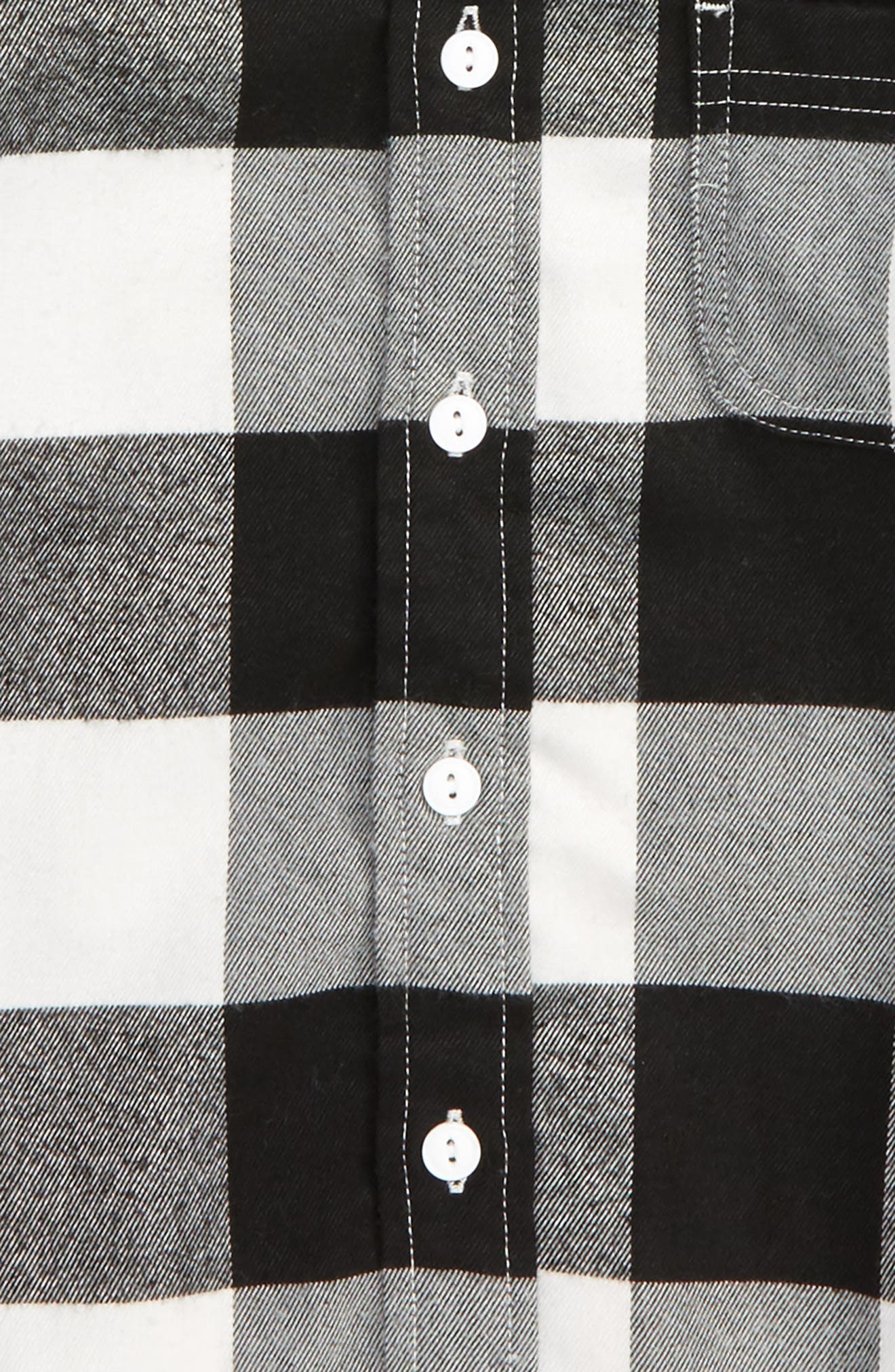 Rylan Check Hooded Shirt,                             Alternate thumbnail 2, color,                             Black/ White