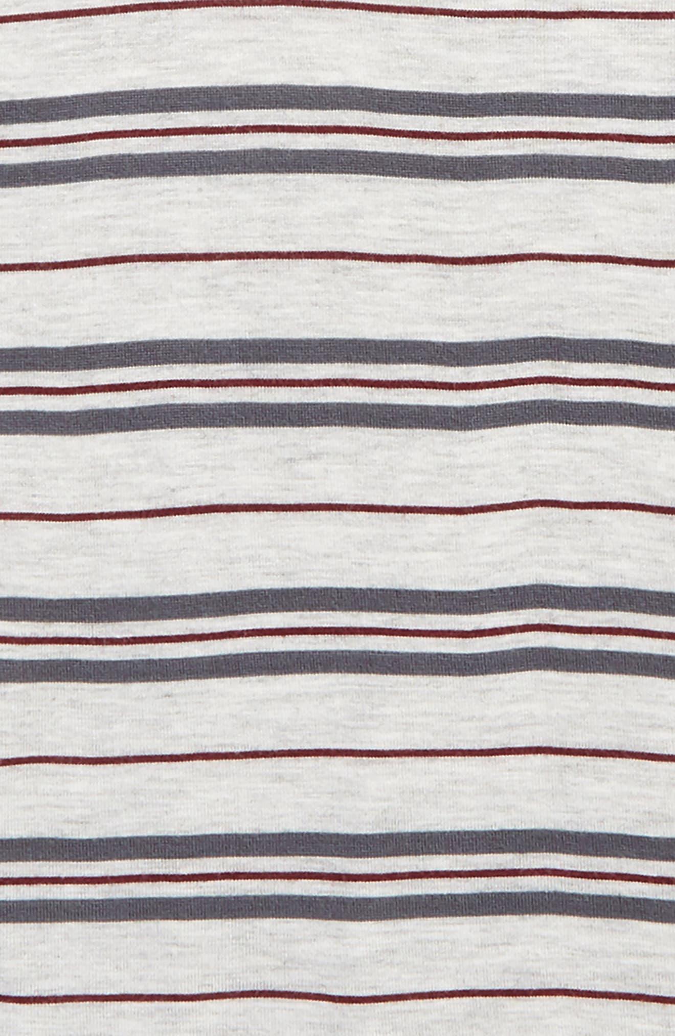 Alternate Image 2  - Treasure & Bond Multi Stripe Tee (Big Girls)