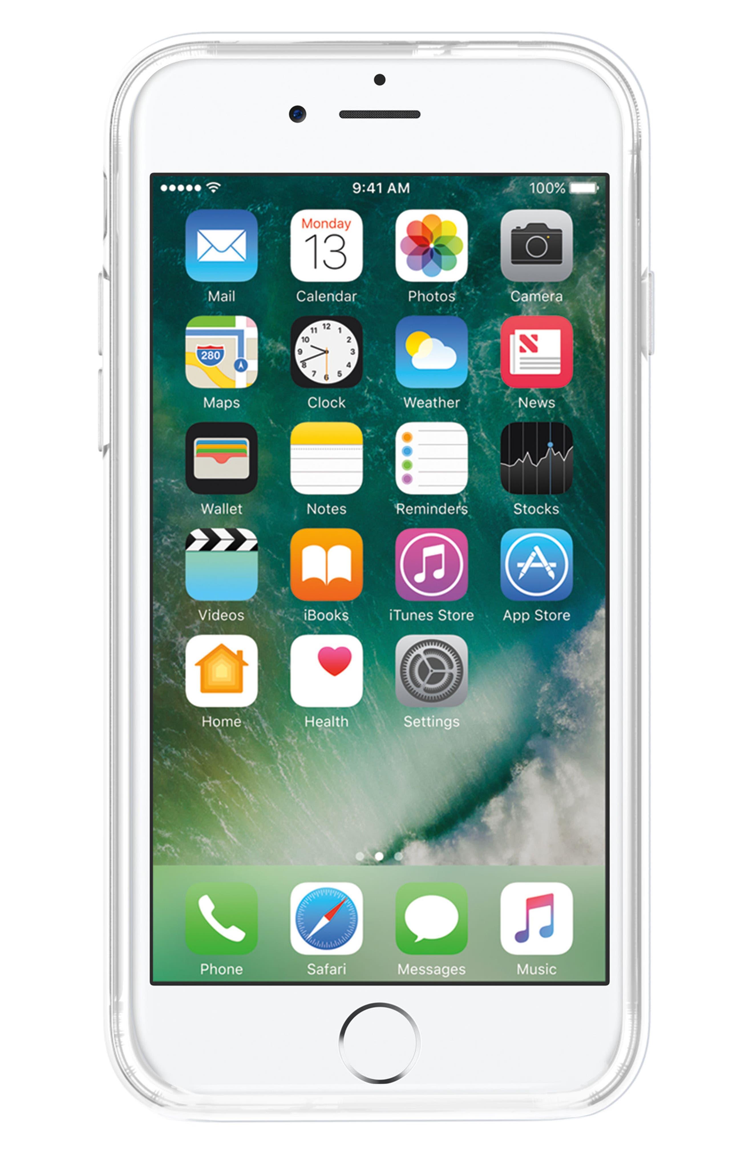 Galaxy Glitter iPhone 7/8 & 7/8 Plus Case,                             Alternate thumbnail 4, color,                             Black Blue Glitter