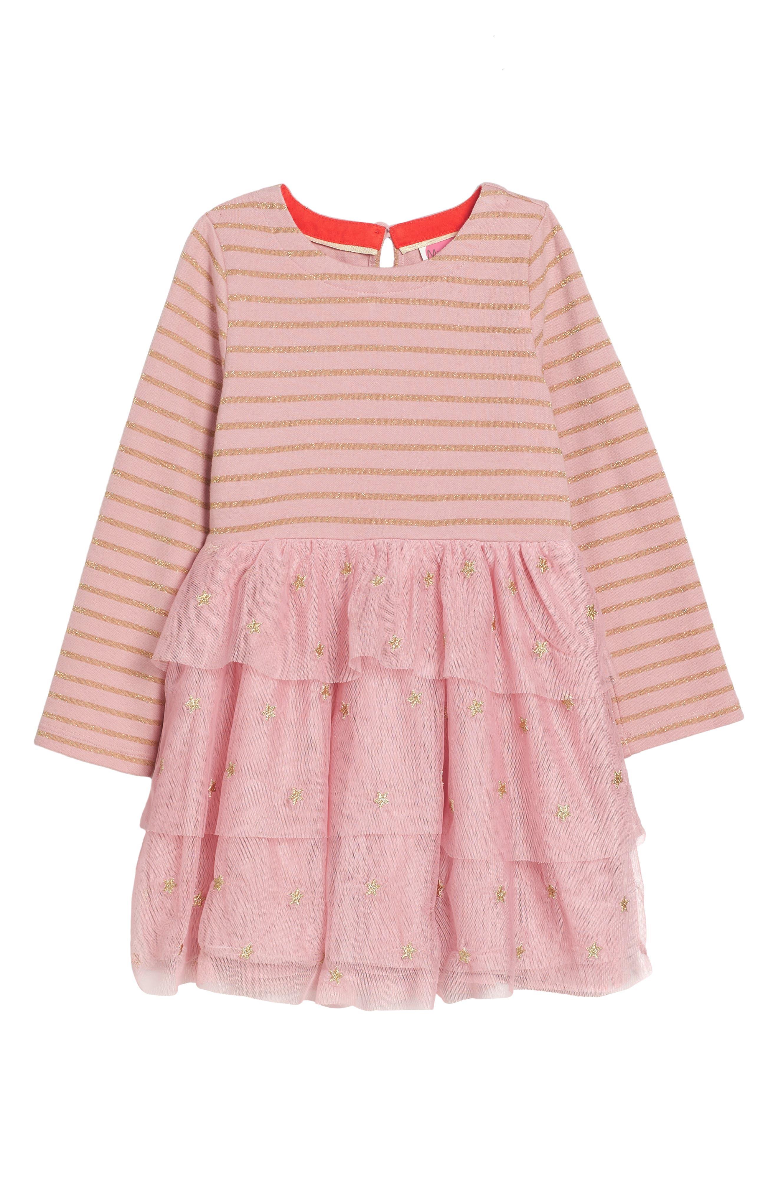 Mixed Media Dress,                             Main thumbnail 1, color,                             Vintage Pink