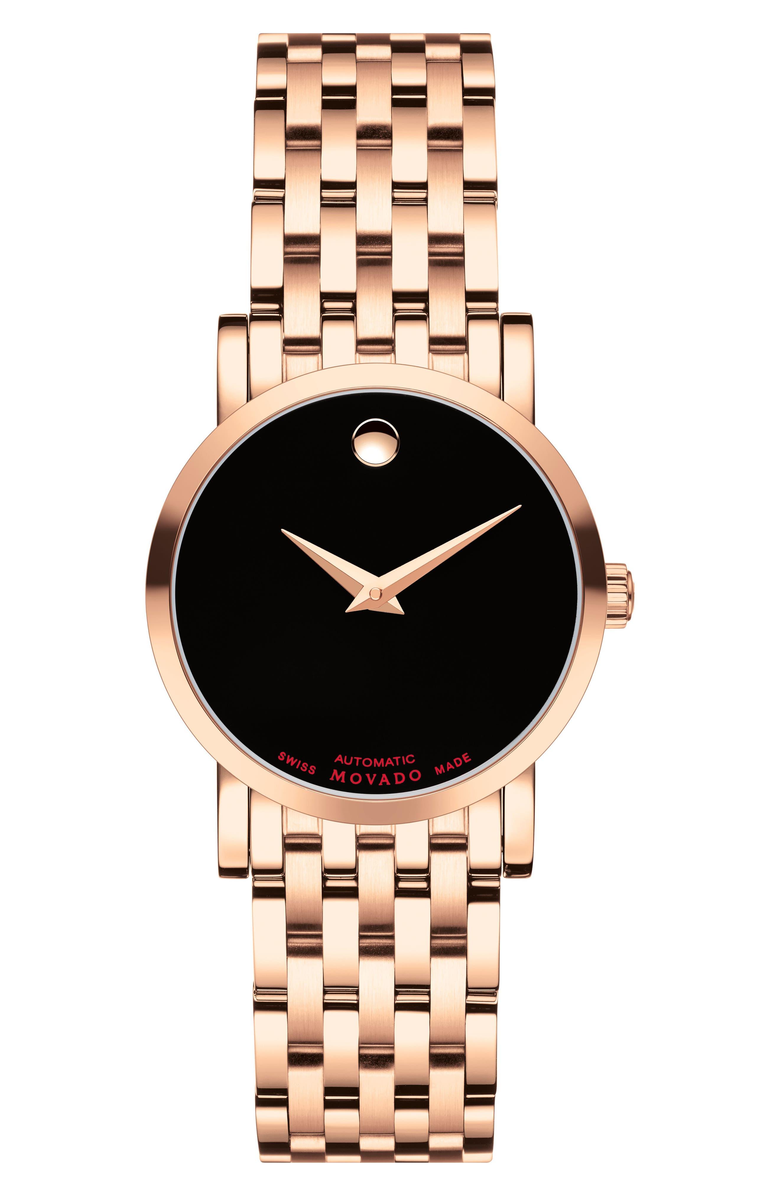 Red Label Automatic Bracelet Watch, 26mm,                         Main,                         color, Rose Gold/ Black/ Rose Gold