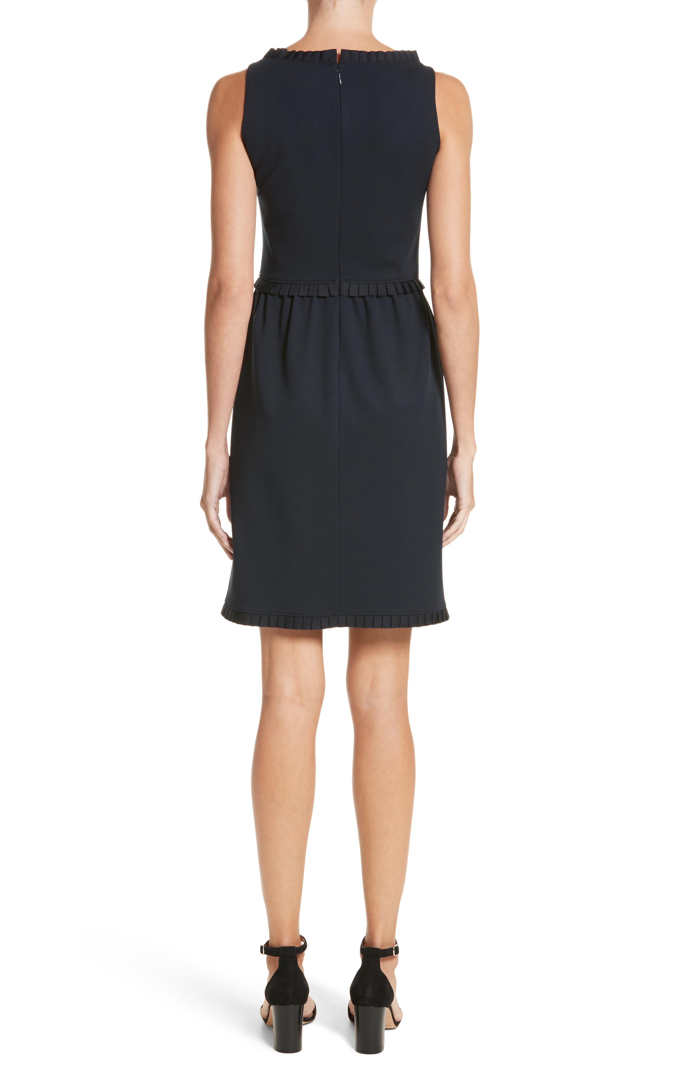 Milano Jersey Dress,                             Alternate thumbnail 2, color,                             Solid Blue Navy