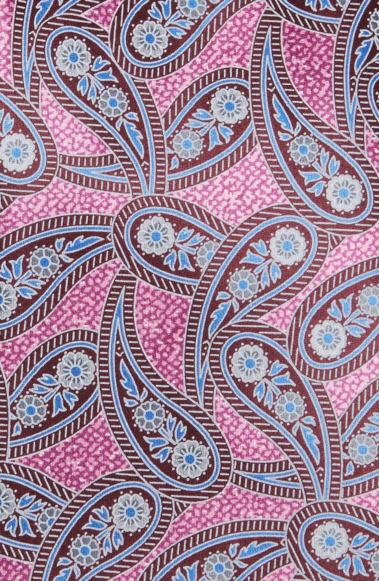 Paisley Silk Tie,                             Alternate thumbnail 2, color,                             Pink