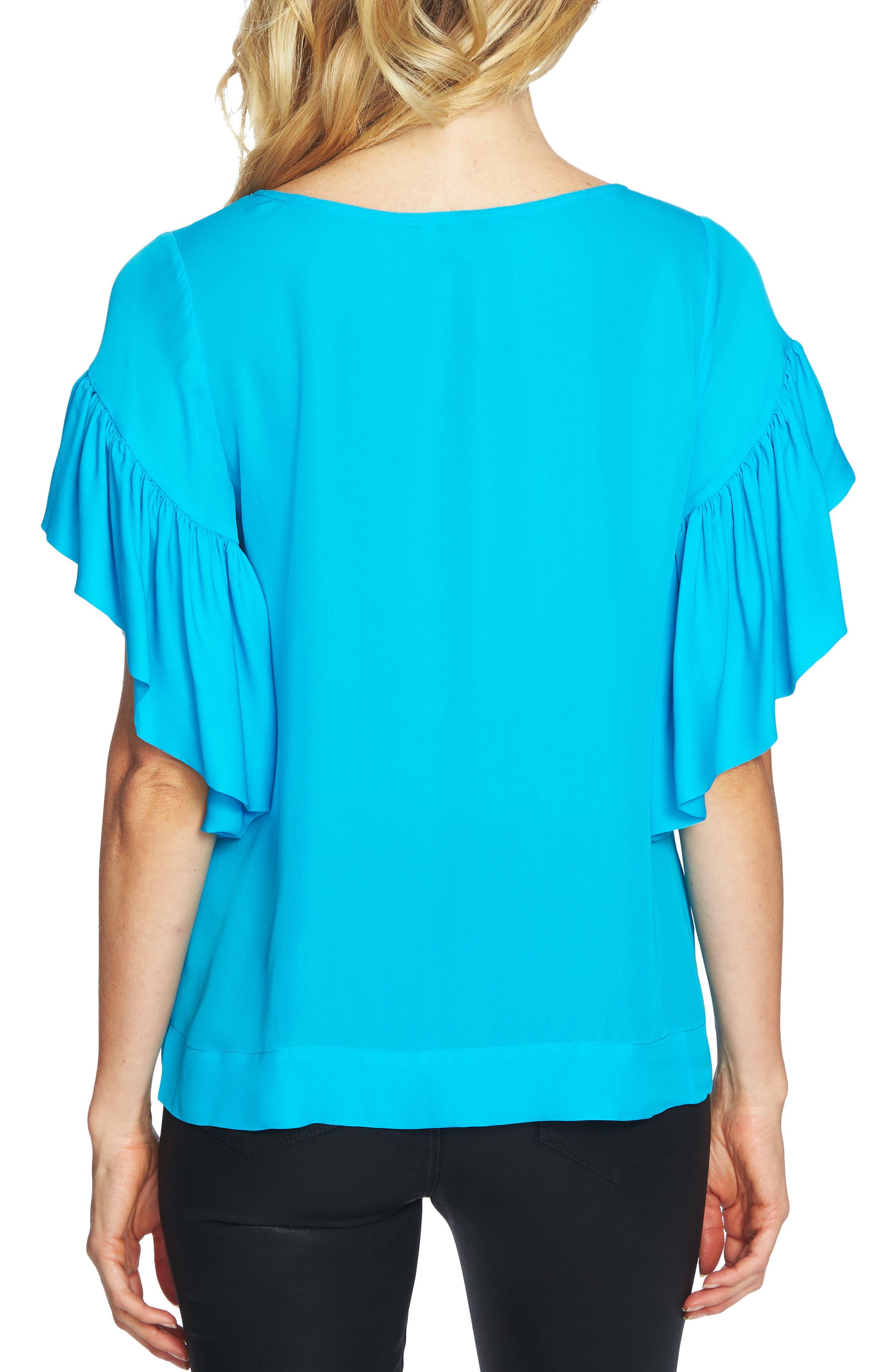 Alternate Image 2  - CeCe Flutter Sleeve Top
