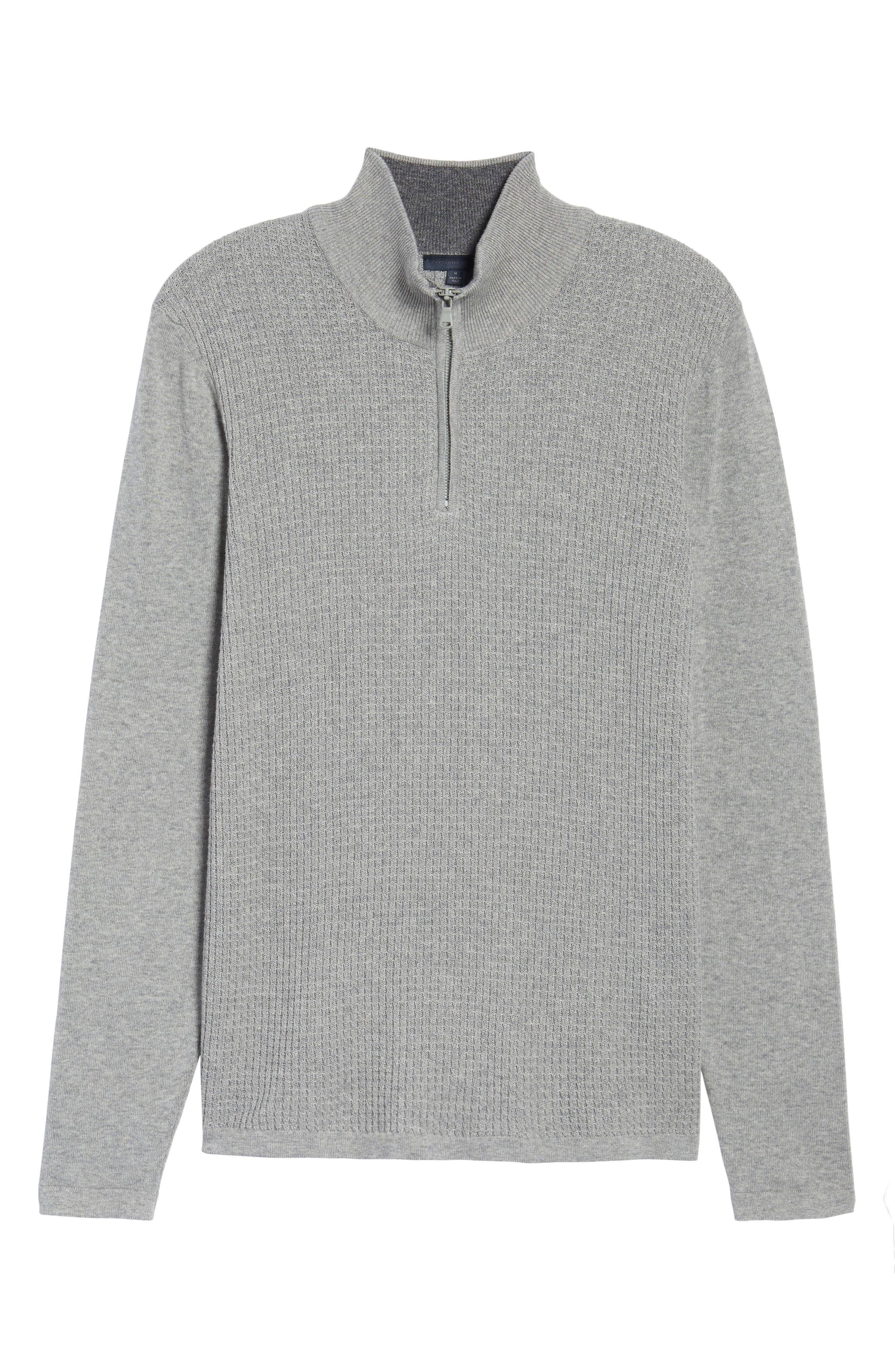 Alternate Image 6  - Zachary Prell Higgins Quarter Zip Sweater