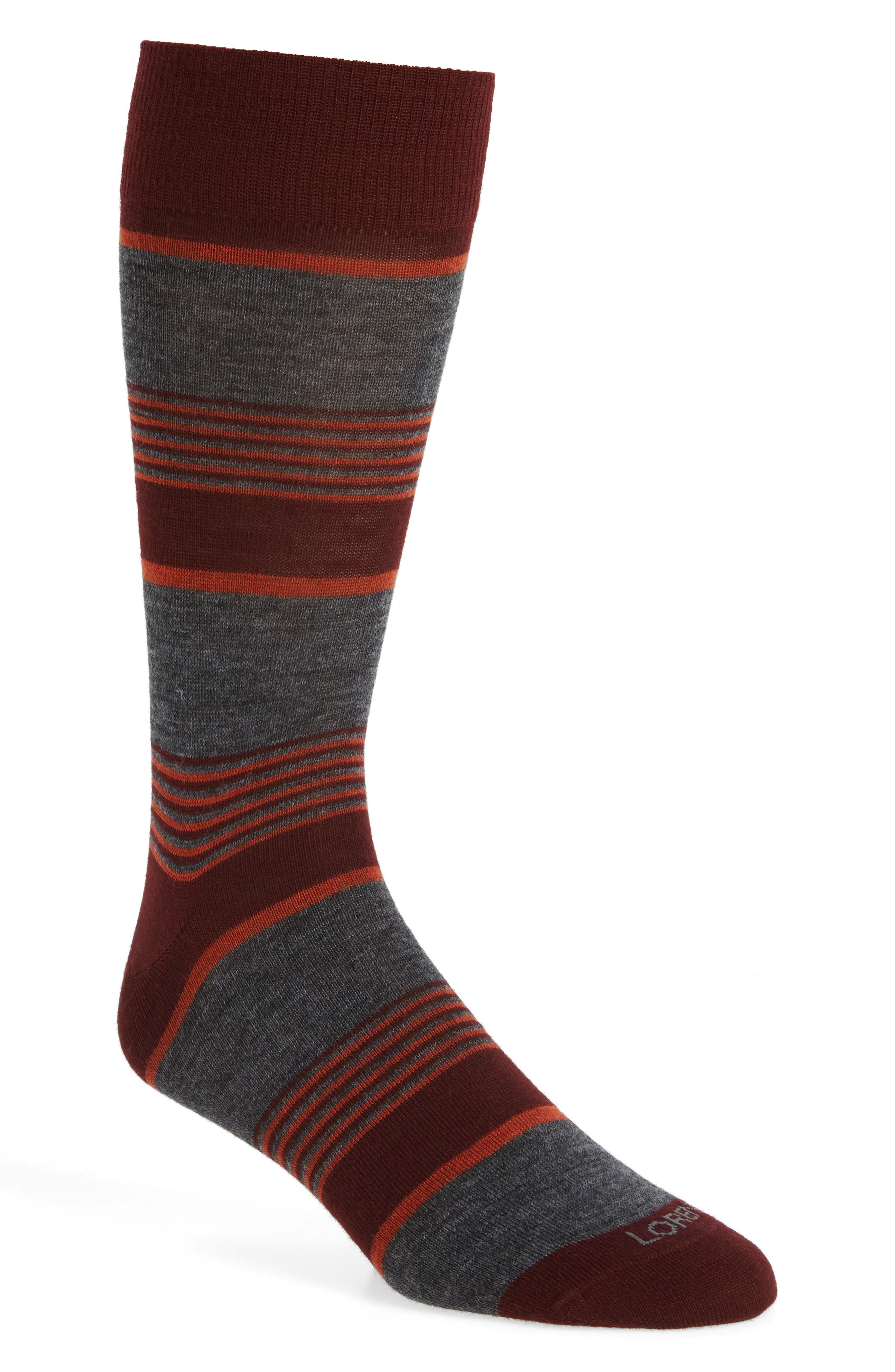 Lorenzo Uomo Colorblock Stripe Crew Socks