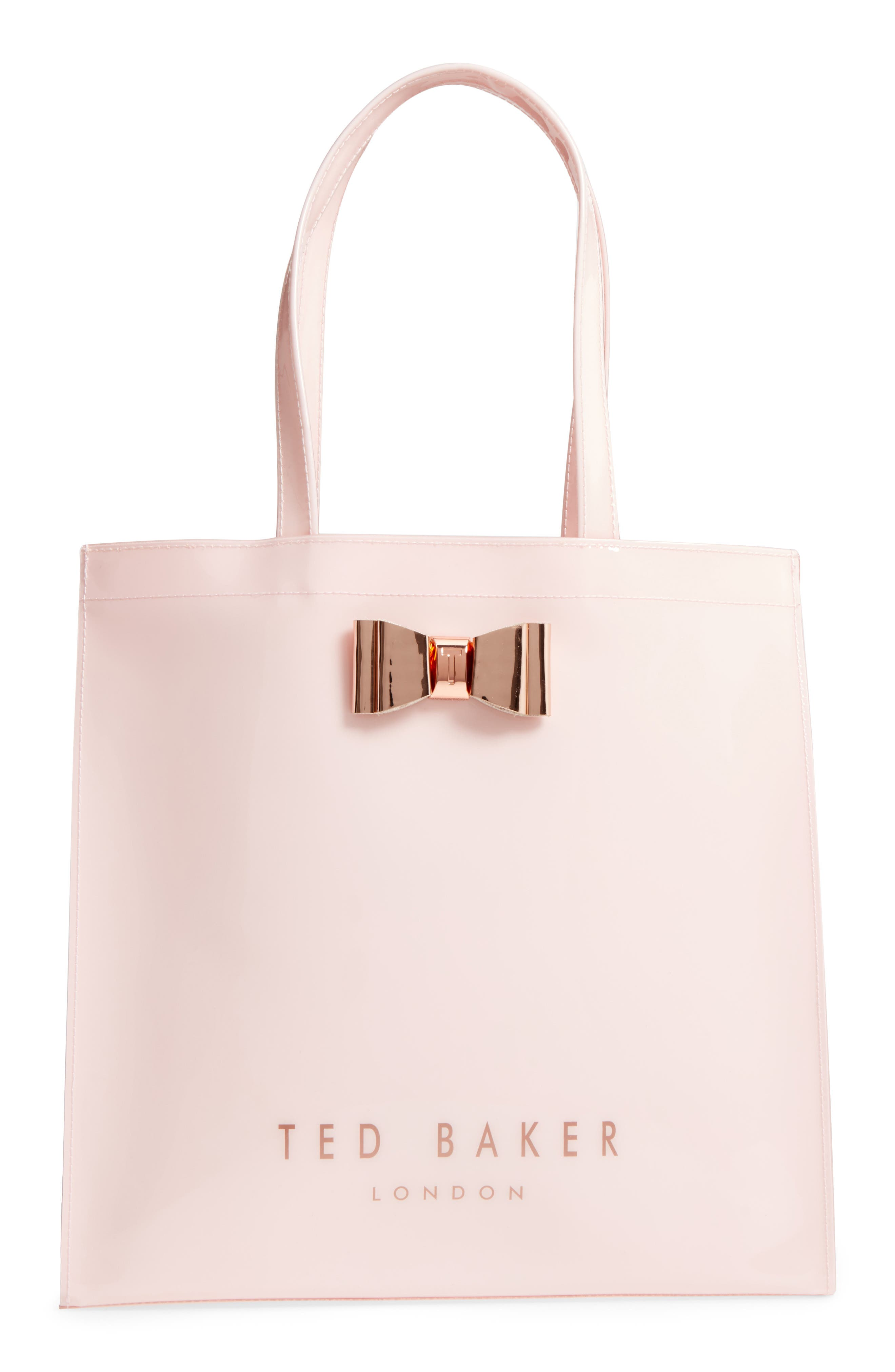 Mandcon - Large Icon PVC Tote,                             Main thumbnail 1, color,                             Pale Pink