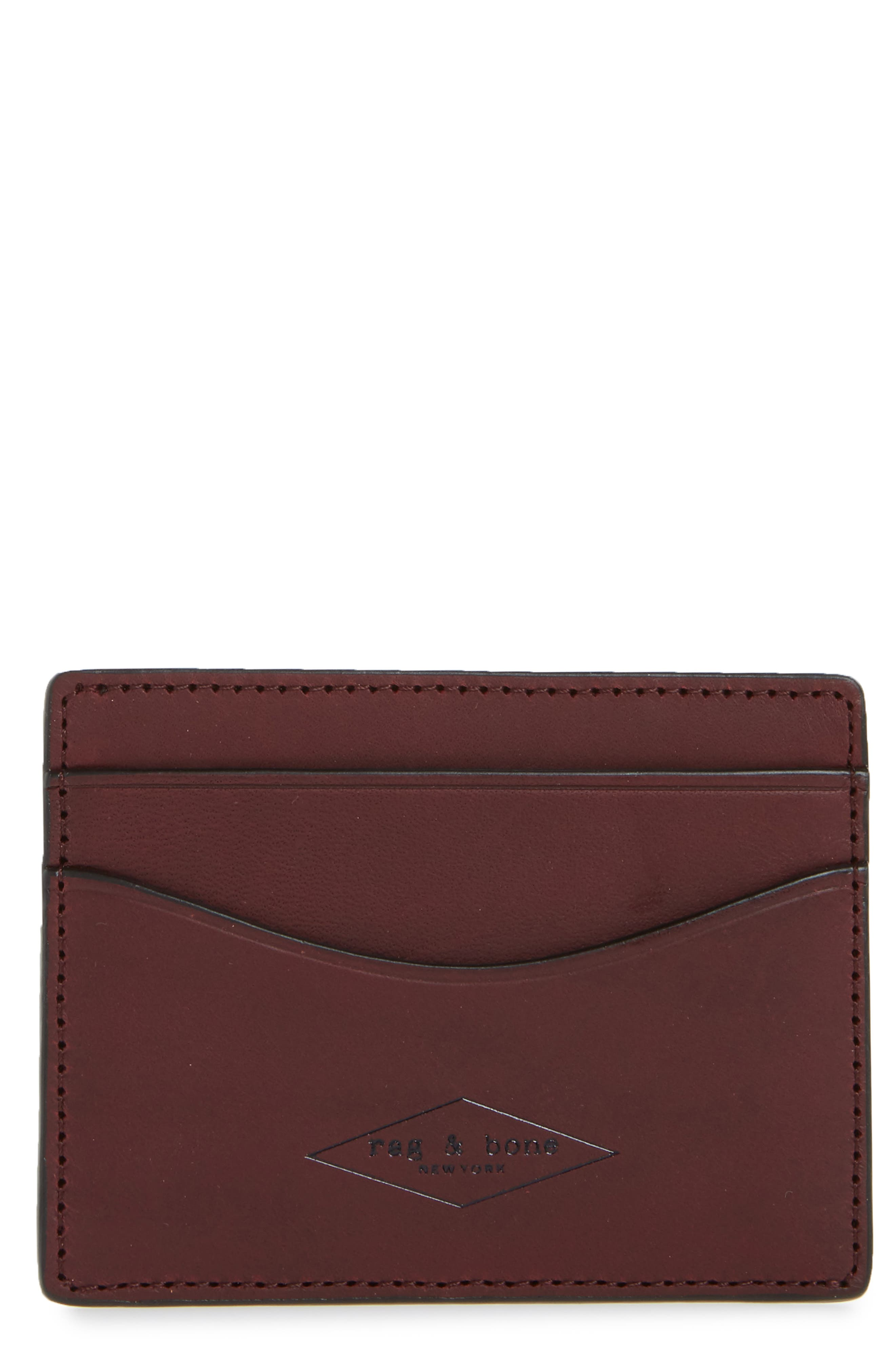 Hampshire Leather Card Case,                         Main,                         color, Ox Blood