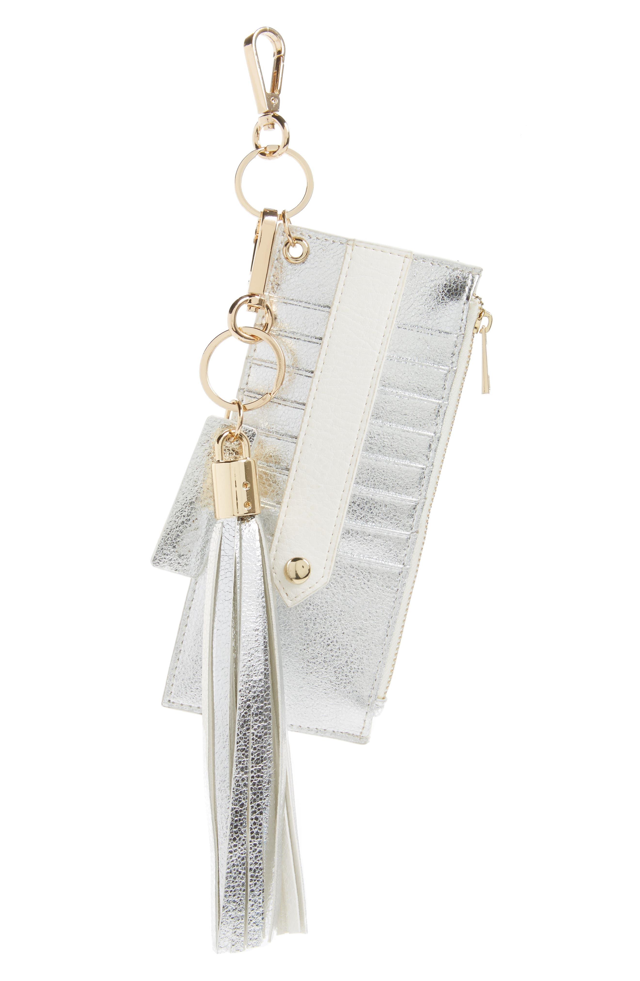 Main Image - Mali + Lili Sydney Faux Leather Card Case with Tassel Charm