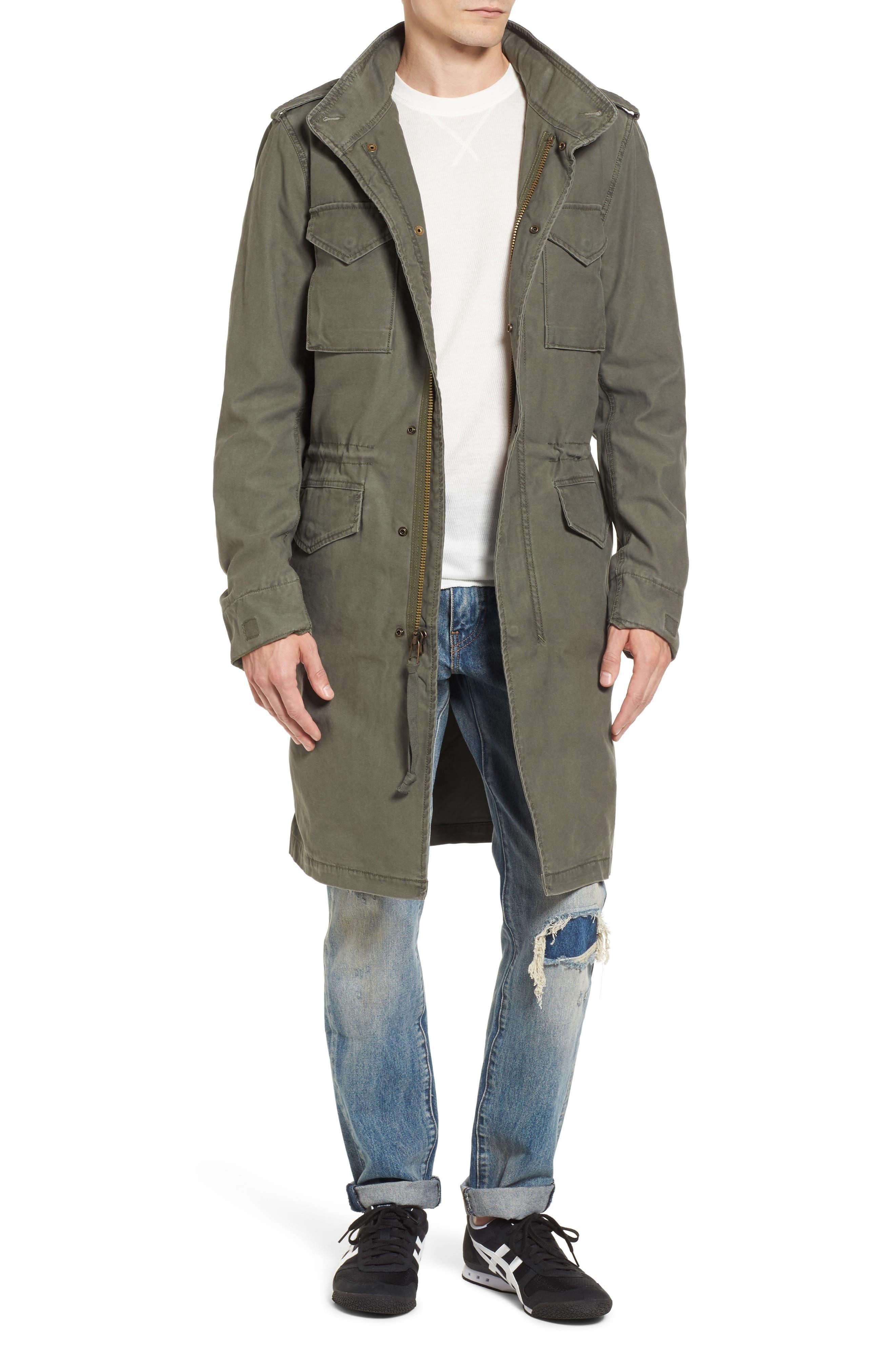 Quartermaster Elongated Field Coat,                         Main,                         color, M-65 Olive