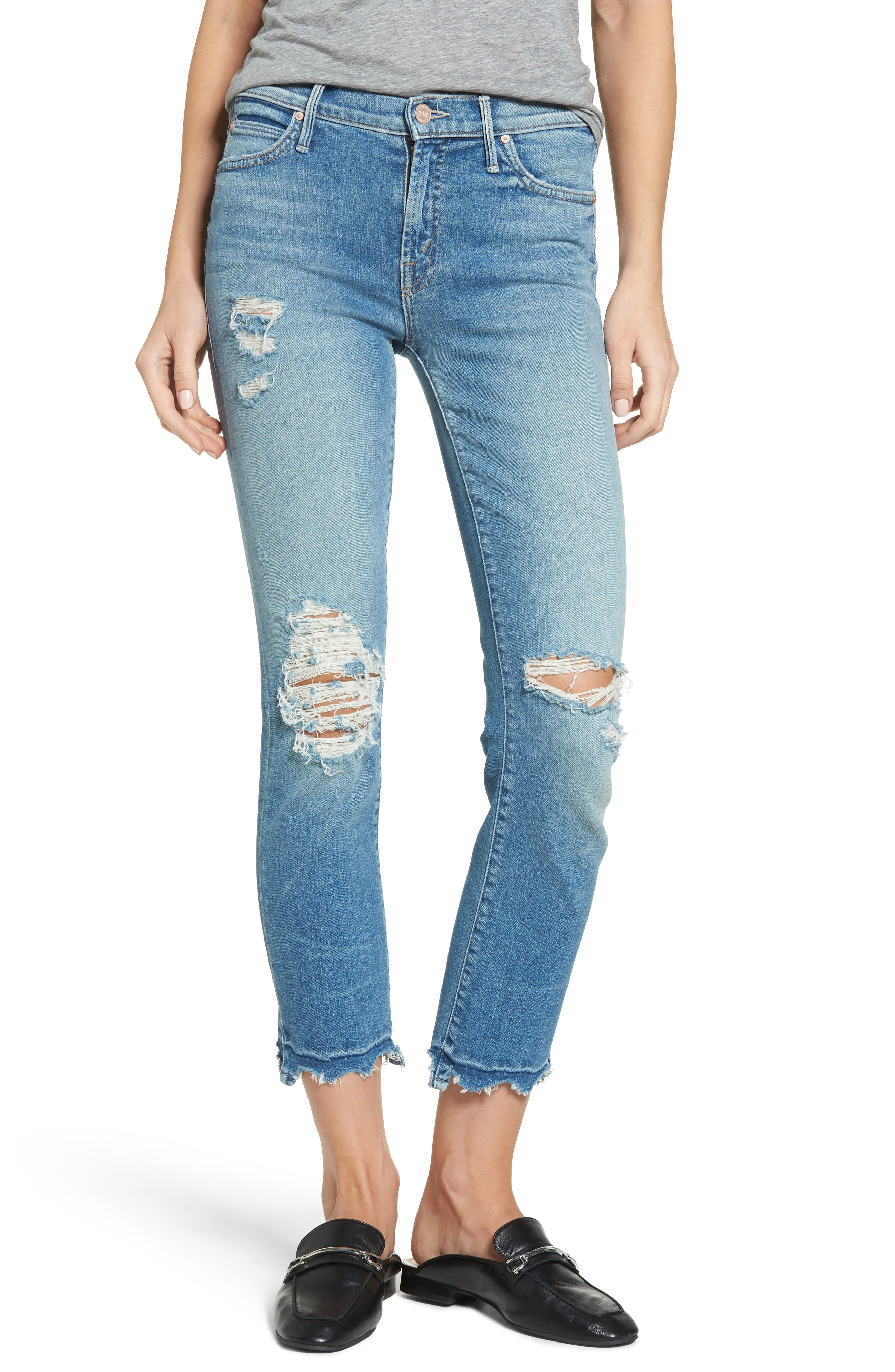 Alternate Image 1 Selected - MOTHER The Rascal High Waist Ankle Jeans (Push The Envelope)
