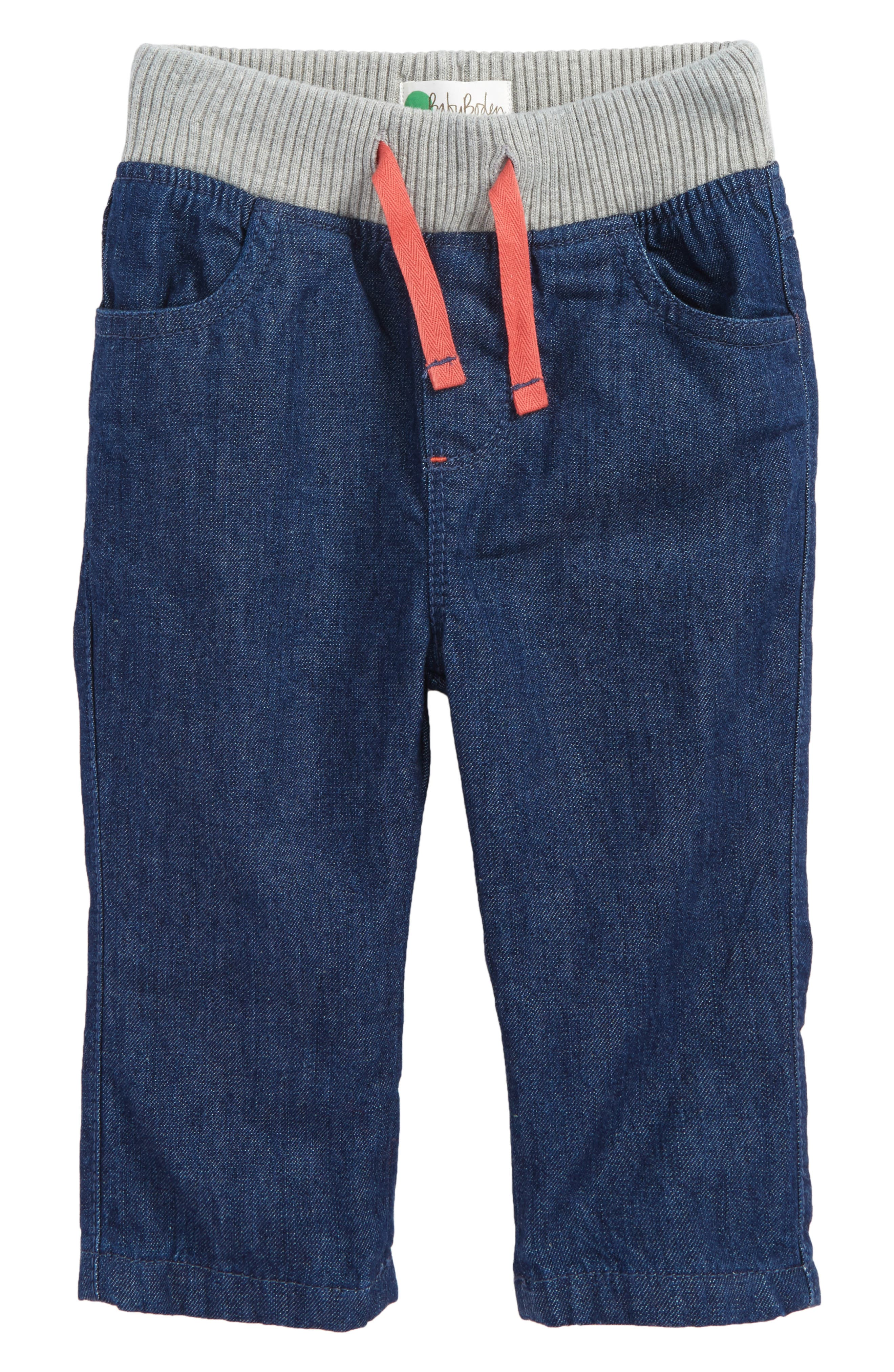 Main Image - Mini Boden Rib Waist Pants (Baby Boys & Toddler Boys)