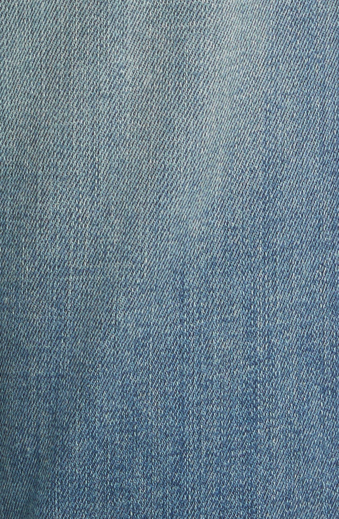 Le Garçon Crop Boyfriend Jeans,                             Alternate thumbnail 6, color,                             Storm