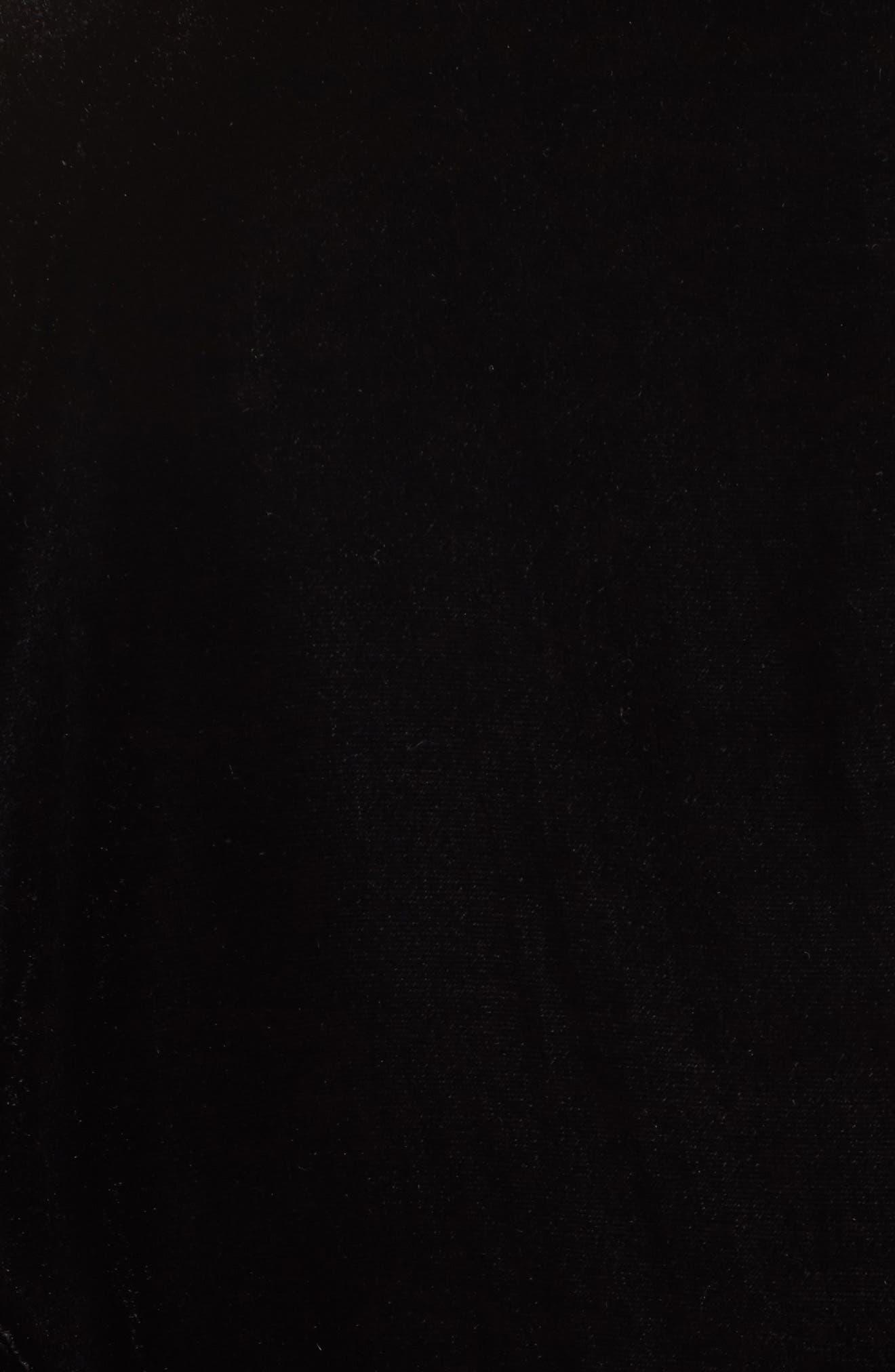 Tie Sleeve Velvet Blazer,                             Alternate thumbnail 6, color,                             Black