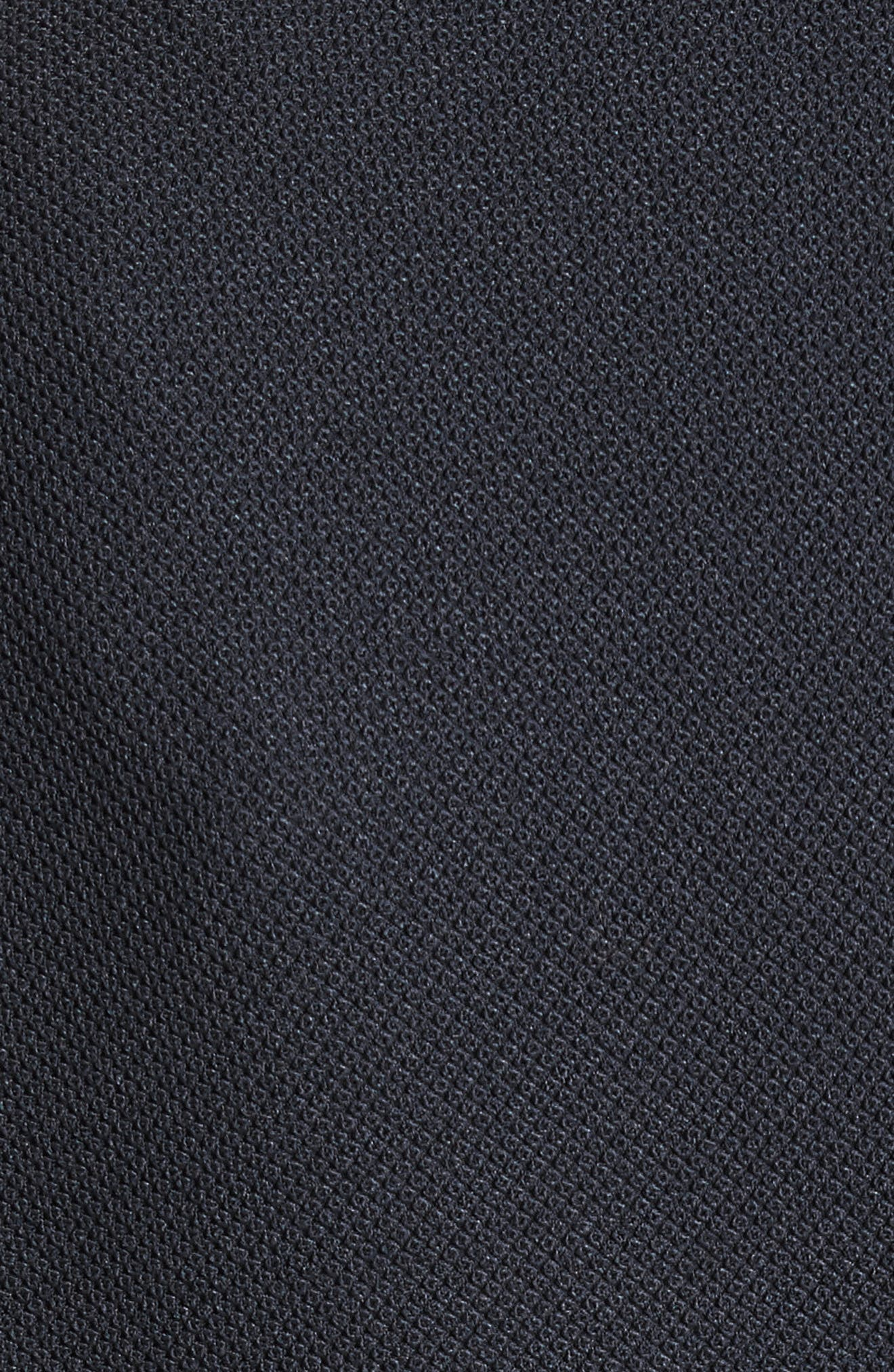 Armani Jeans Piqué Double Breasted Blazer,                             Alternate thumbnail 5, color,                             Navy