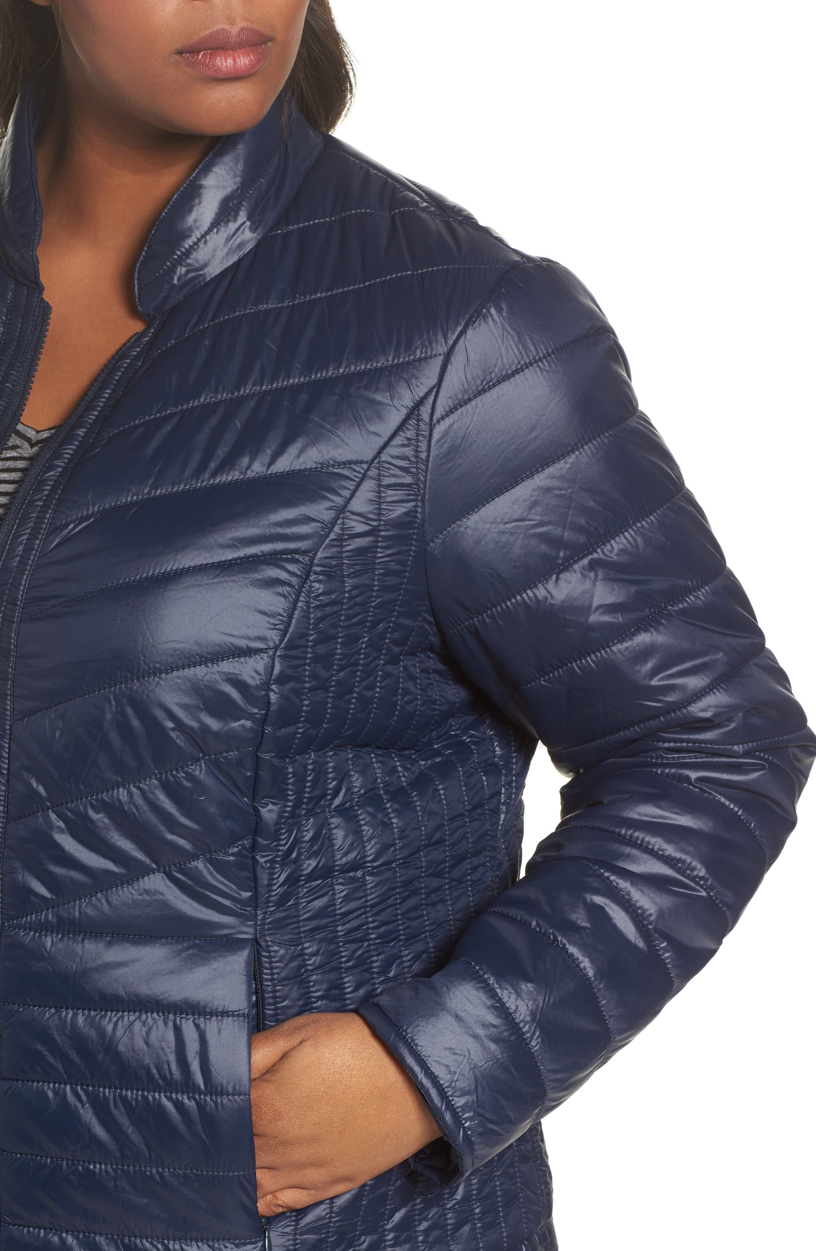 Alternate Image 4  - JUNAROSE Twisted Quilted Puffer Jacket (Plus Size)