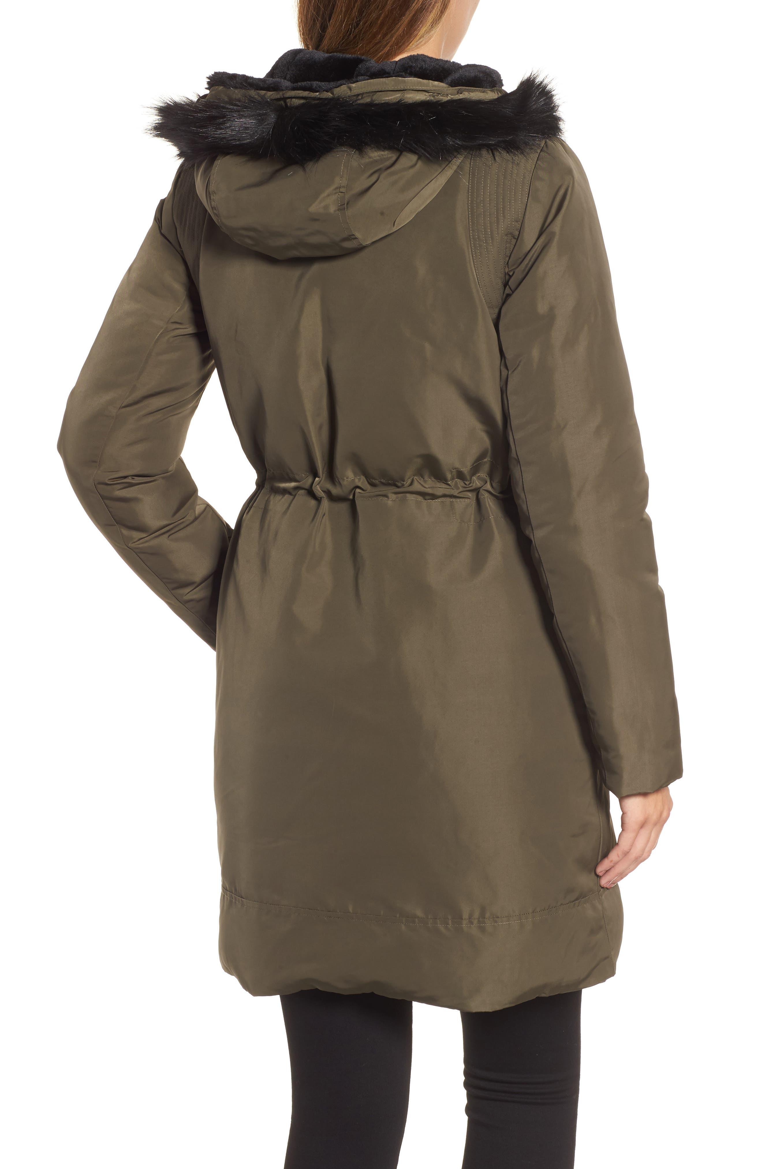 Alternate Image 2  - DKNY Prato Faux Fur Trim Down Parka