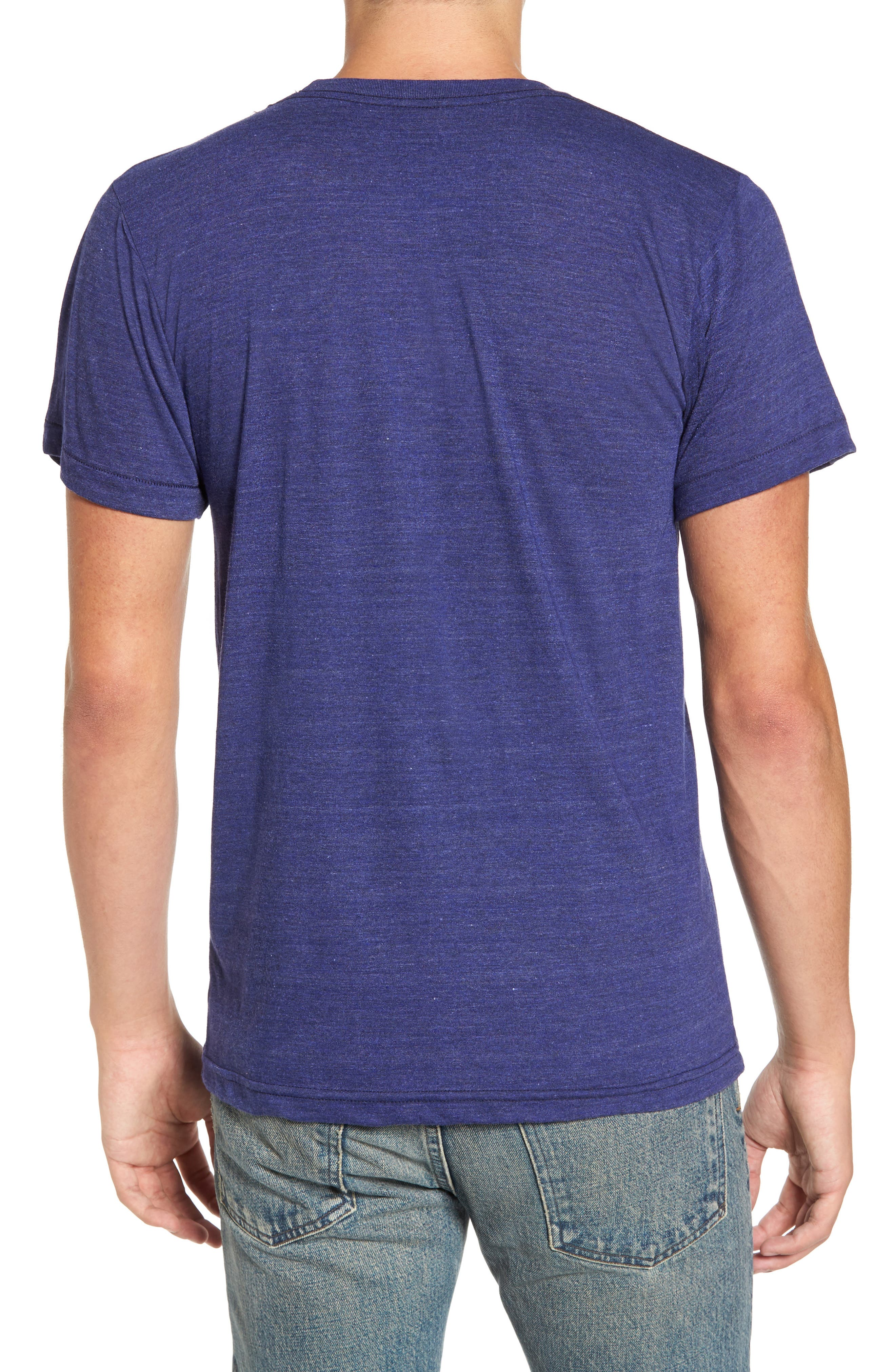 Johnny Tree Embroidered T-Shirt,                             Alternate thumbnail 2, color,                             Blue