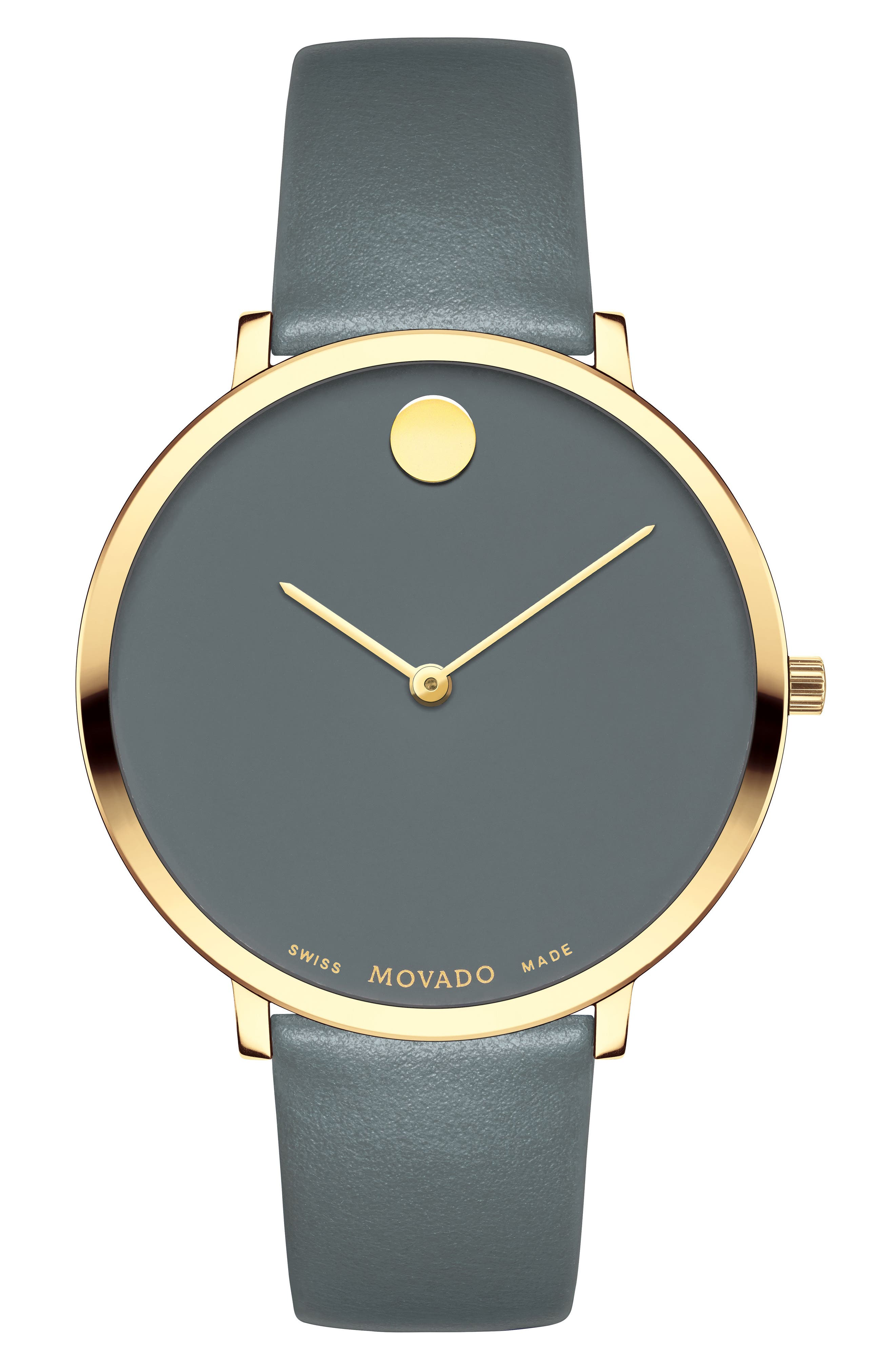Main Image - Movado Ultra Slim Special Edition Leather Strap Watch, 35mm