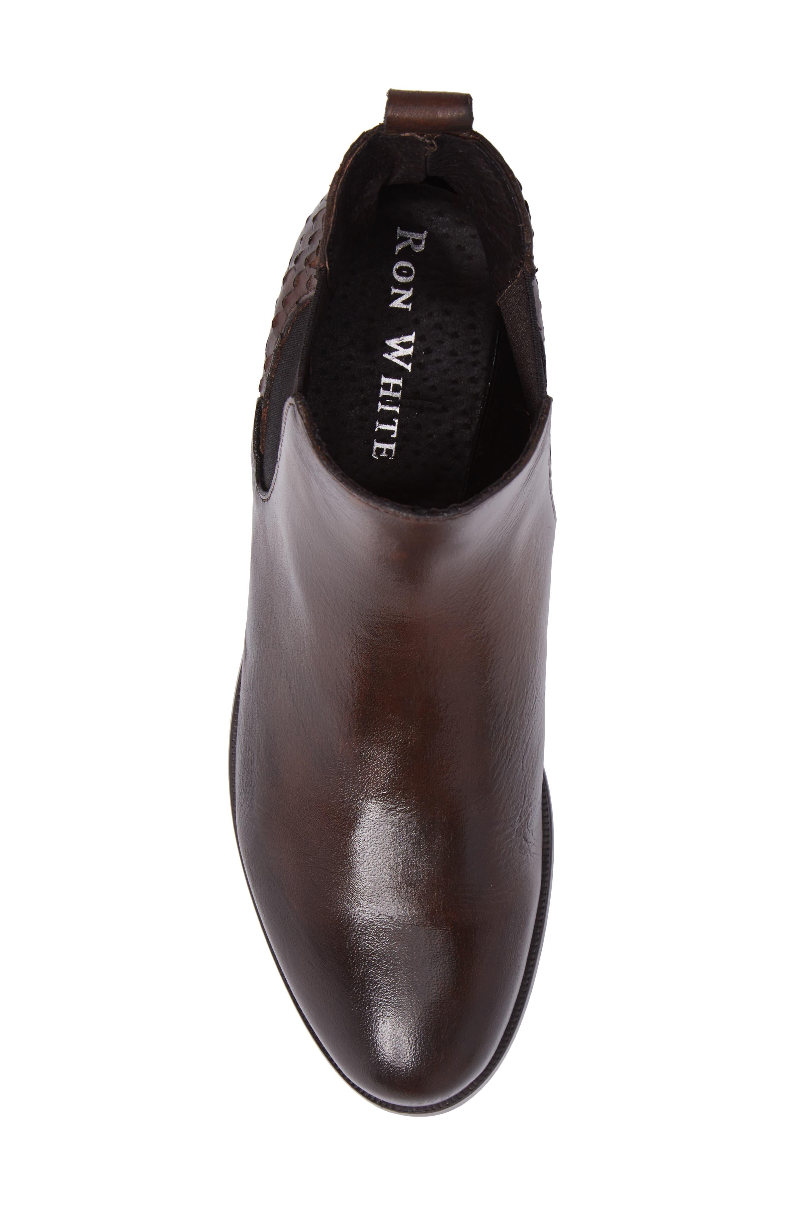 Padamae Water Resistant Chelsea Boot,                             Alternate thumbnail 5, color,                             Onyx Suede