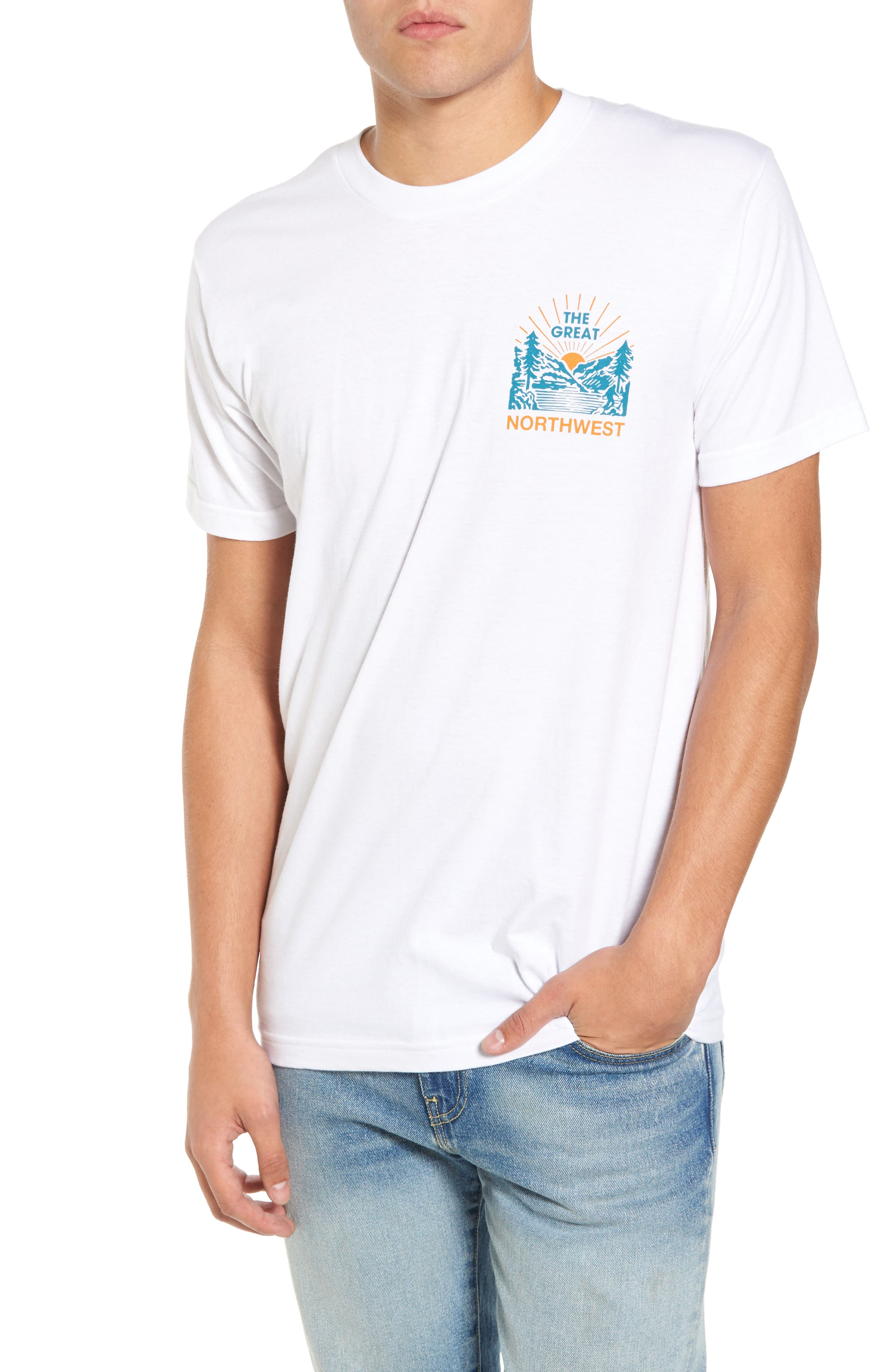 Squatch Valley 2 Graphic T-Shirt,                         Main,                         color, White