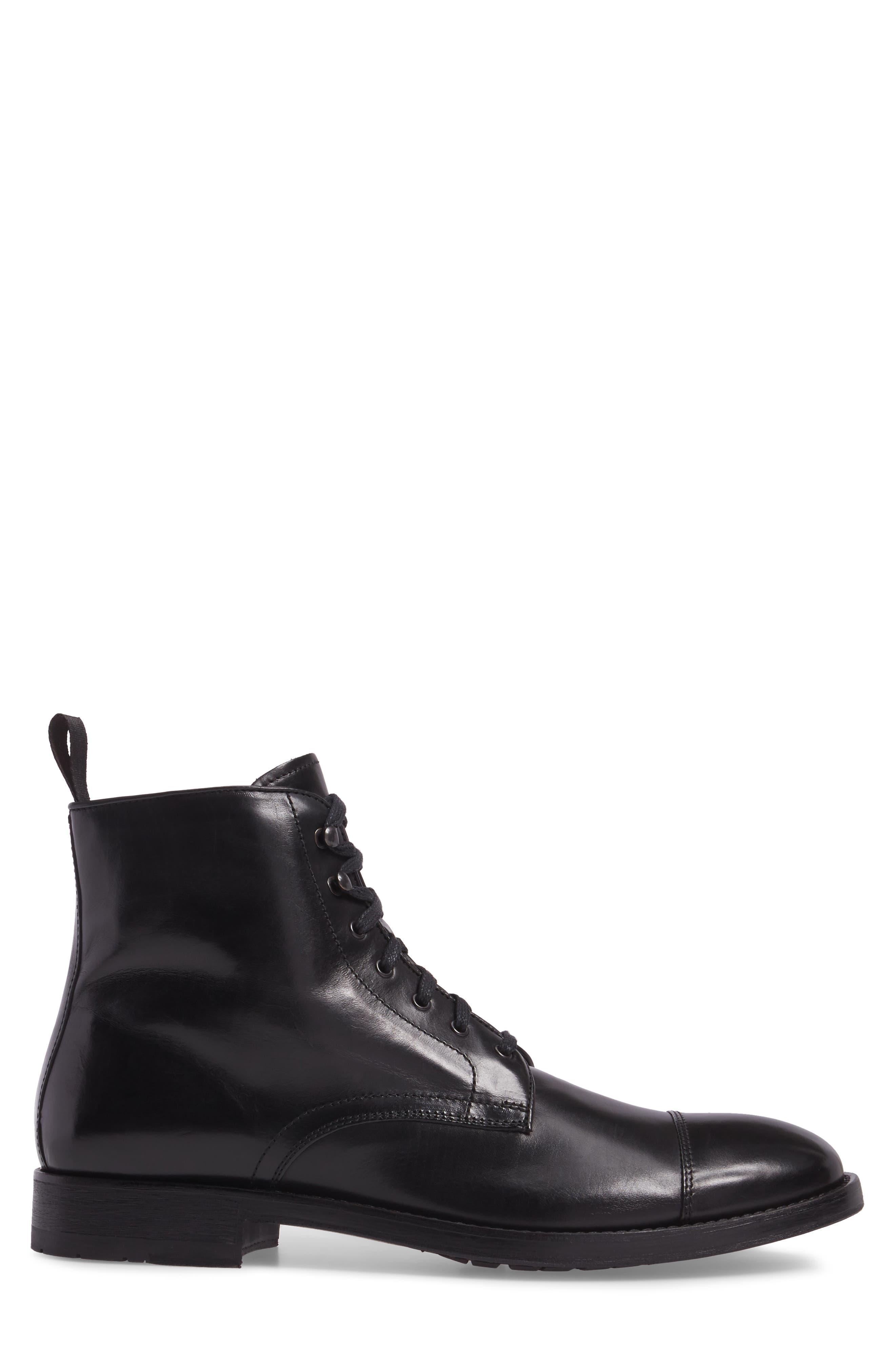 Bondfield Cap Toe Boot,                             Alternate thumbnail 3, color,                             Black