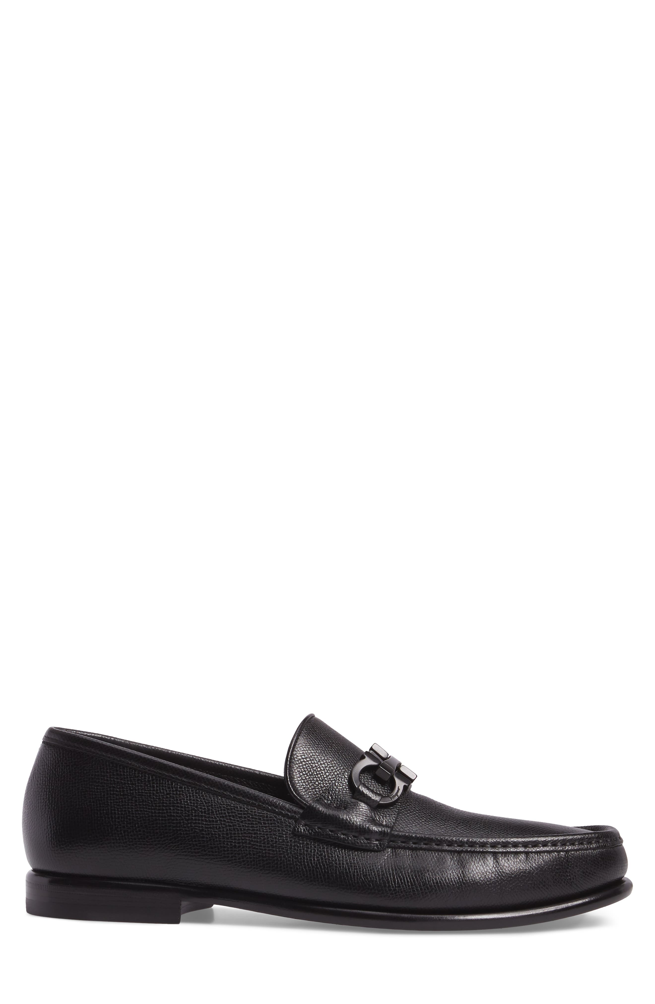 Crown Bit Loafer,                             Alternate thumbnail 3, color,                             Nero