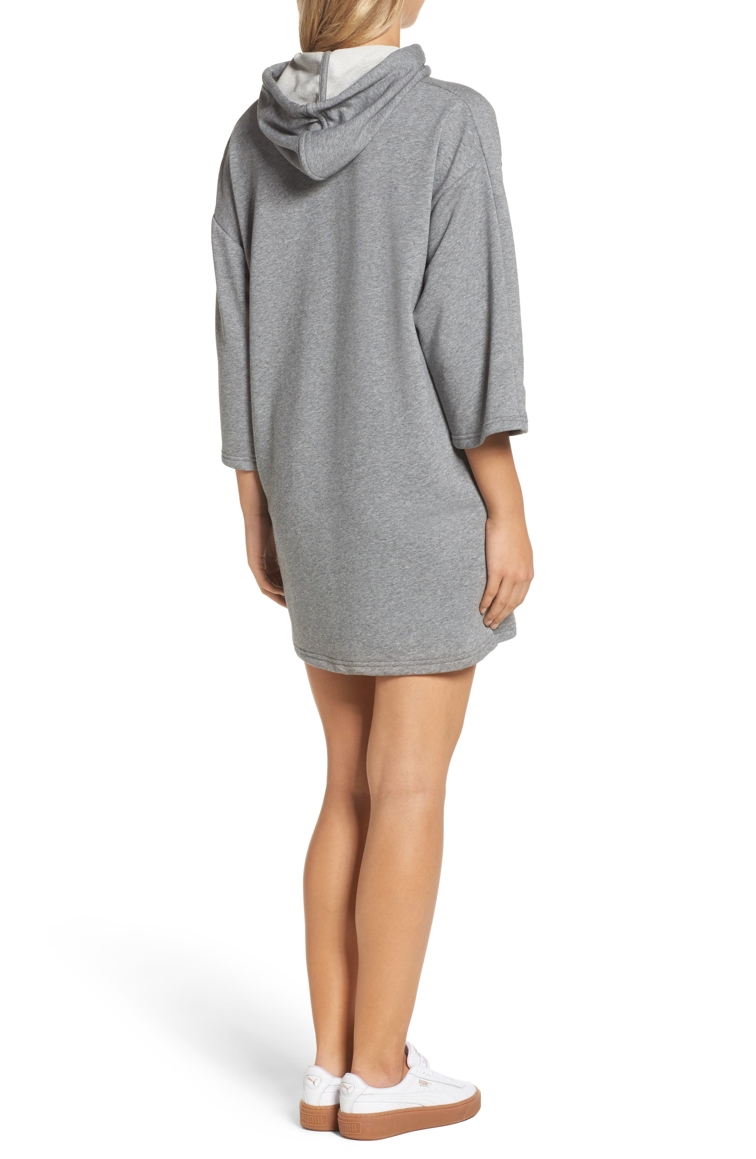 Alternate Image 2  - PUMA Glam Oversize Hooded Dress