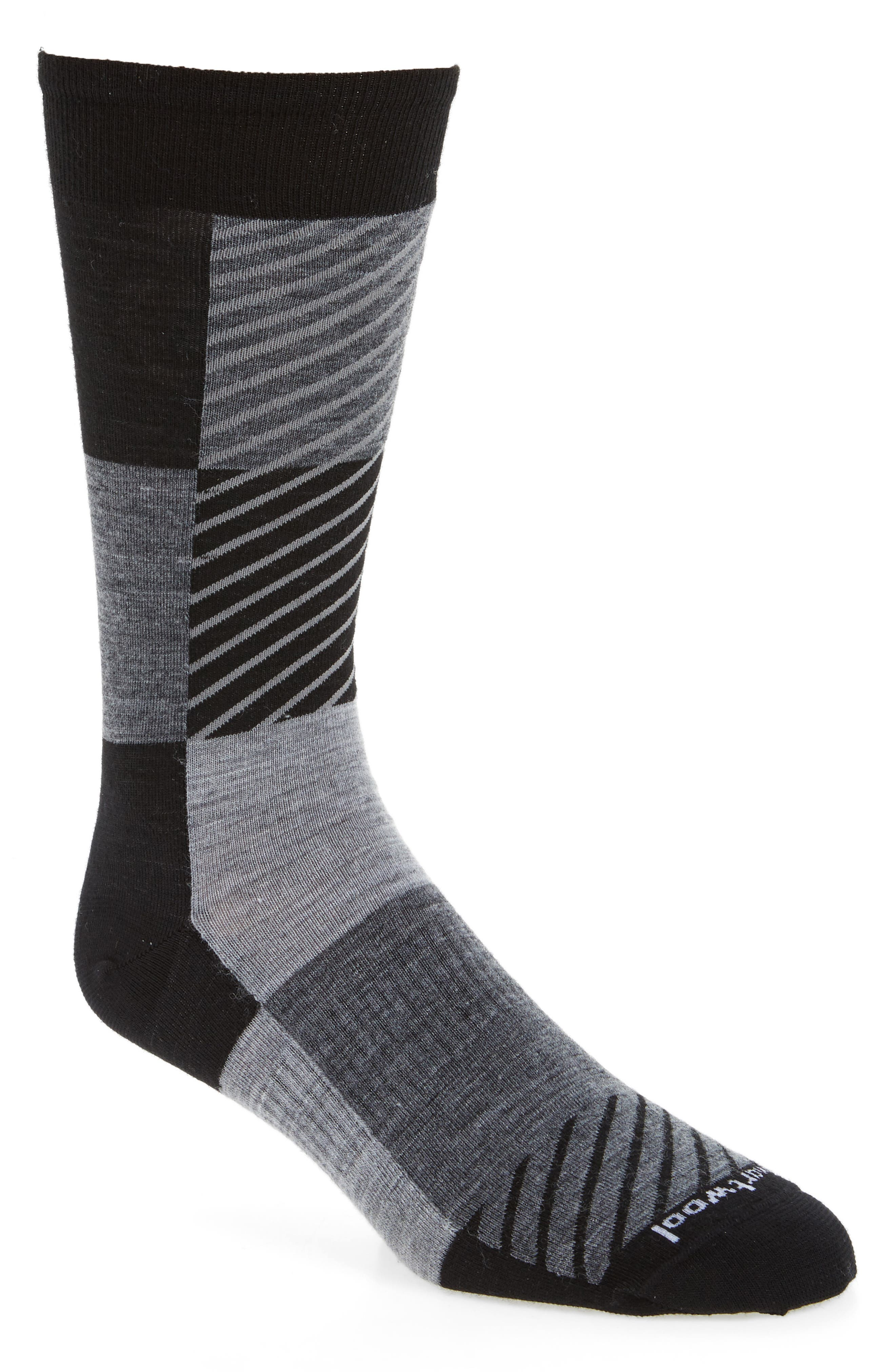 Gunnar Colorblock Socks,                             Main thumbnail 1, color,                             Black