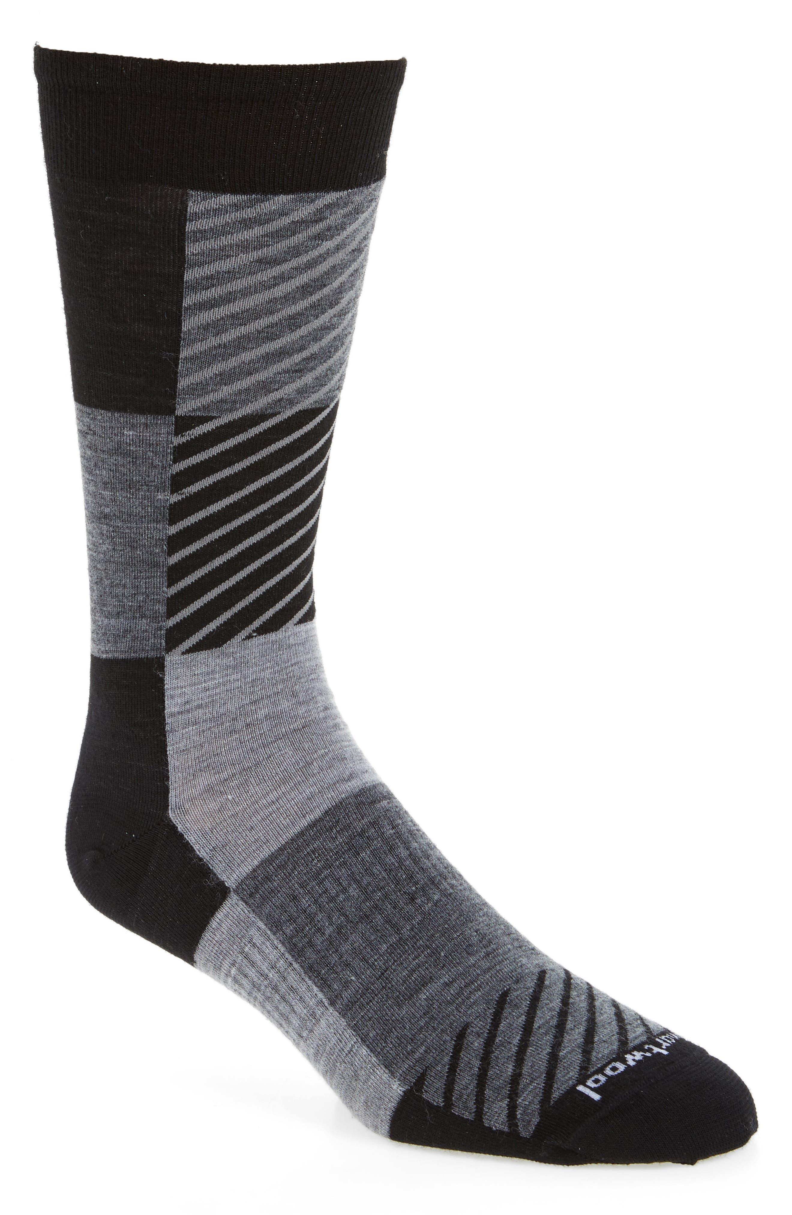 Gunnar Colorblock Socks,                         Main,                         color, Black