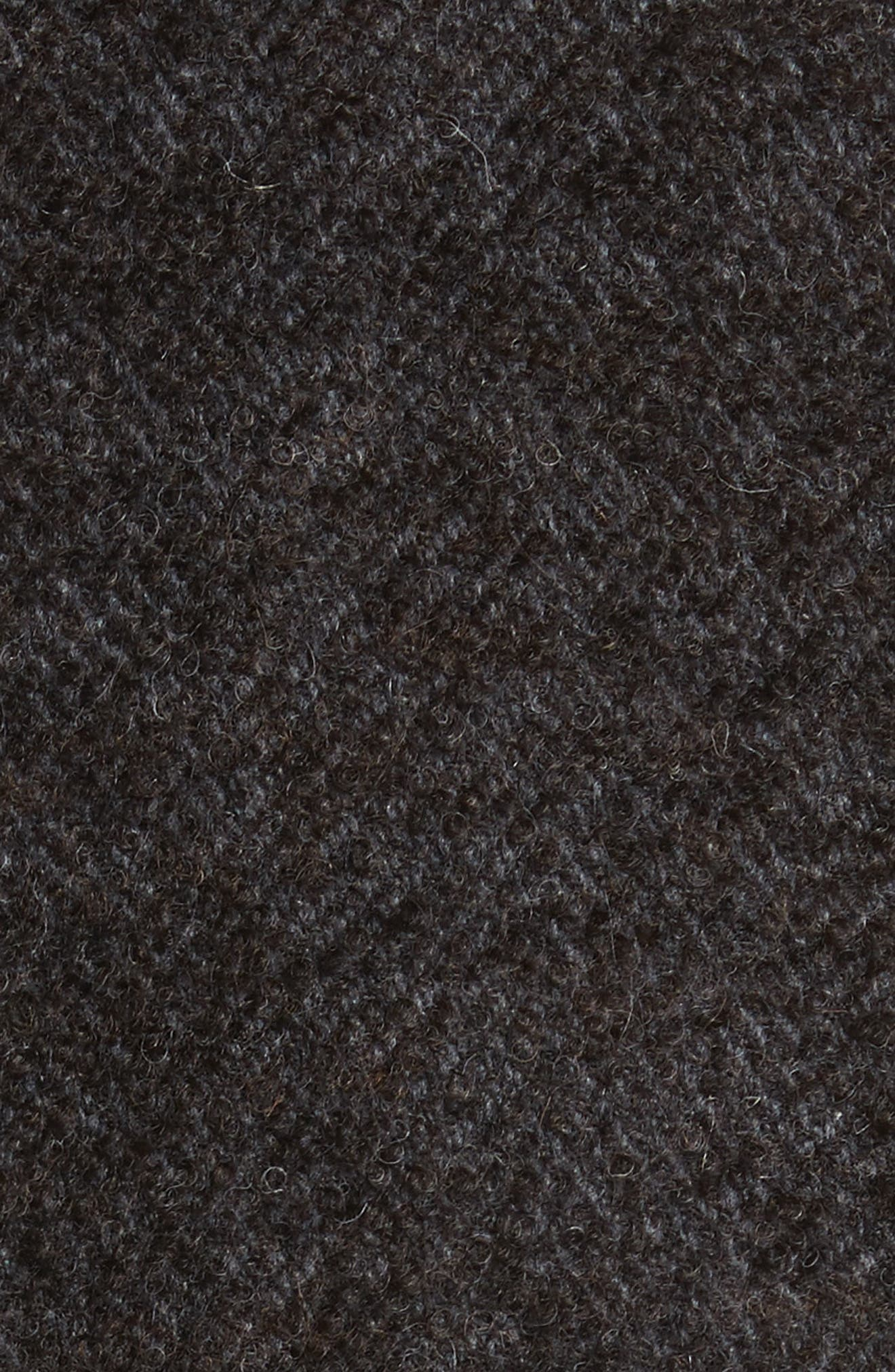 Walsh Wool Blend Topcoat,                             Alternate thumbnail 5, color,                             Brown/ White