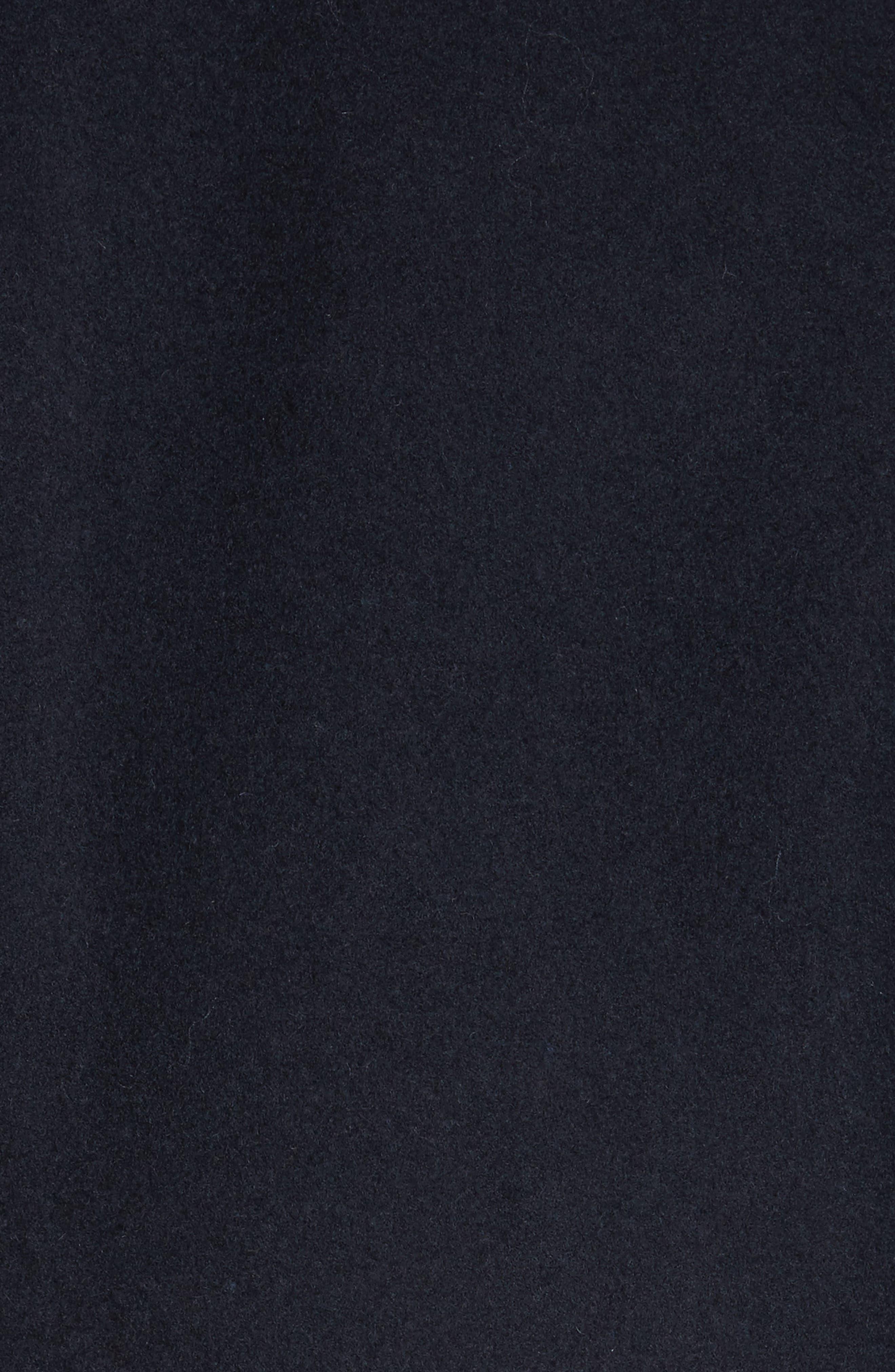 Hook Wool Blend Topcoat,                             Alternate thumbnail 5, color,                             Navy